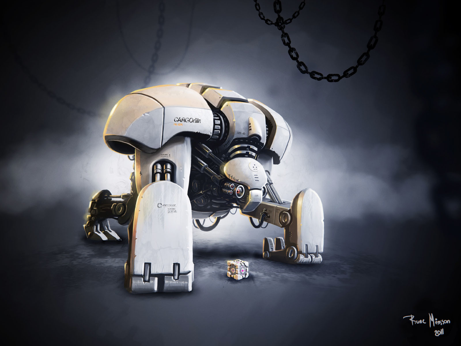 Robots Companion Cube HD Wallpaper