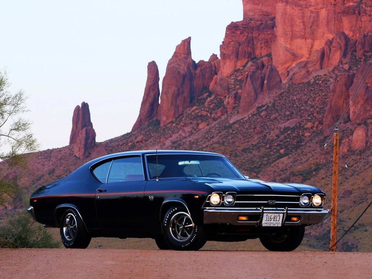 rocks muscle cars vehicles HD Wallpaper