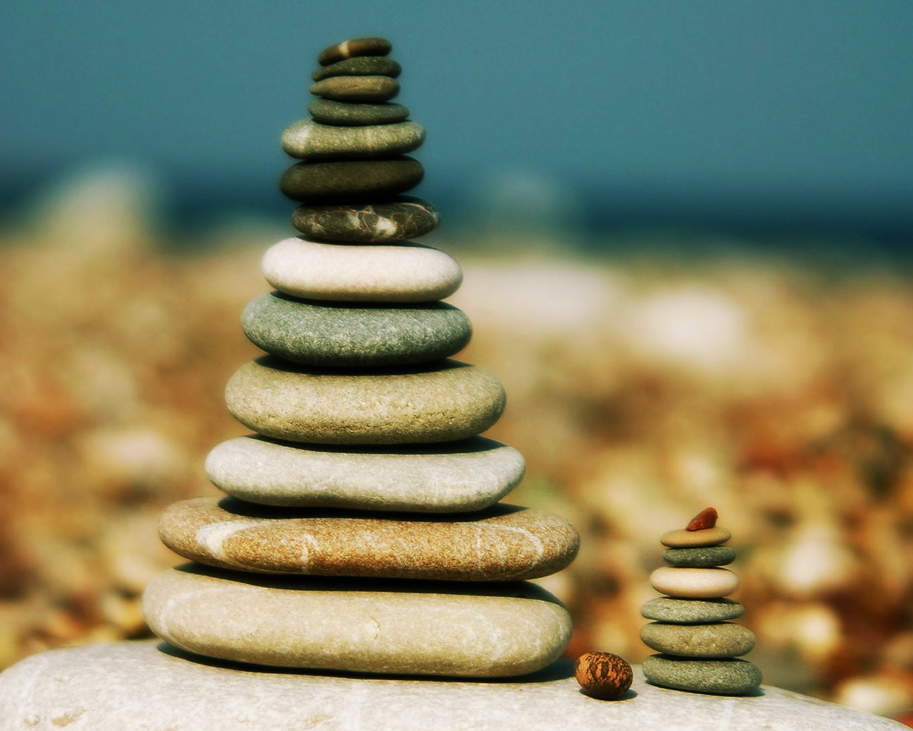rocks stones Zen pebbles HD Wallpaper
