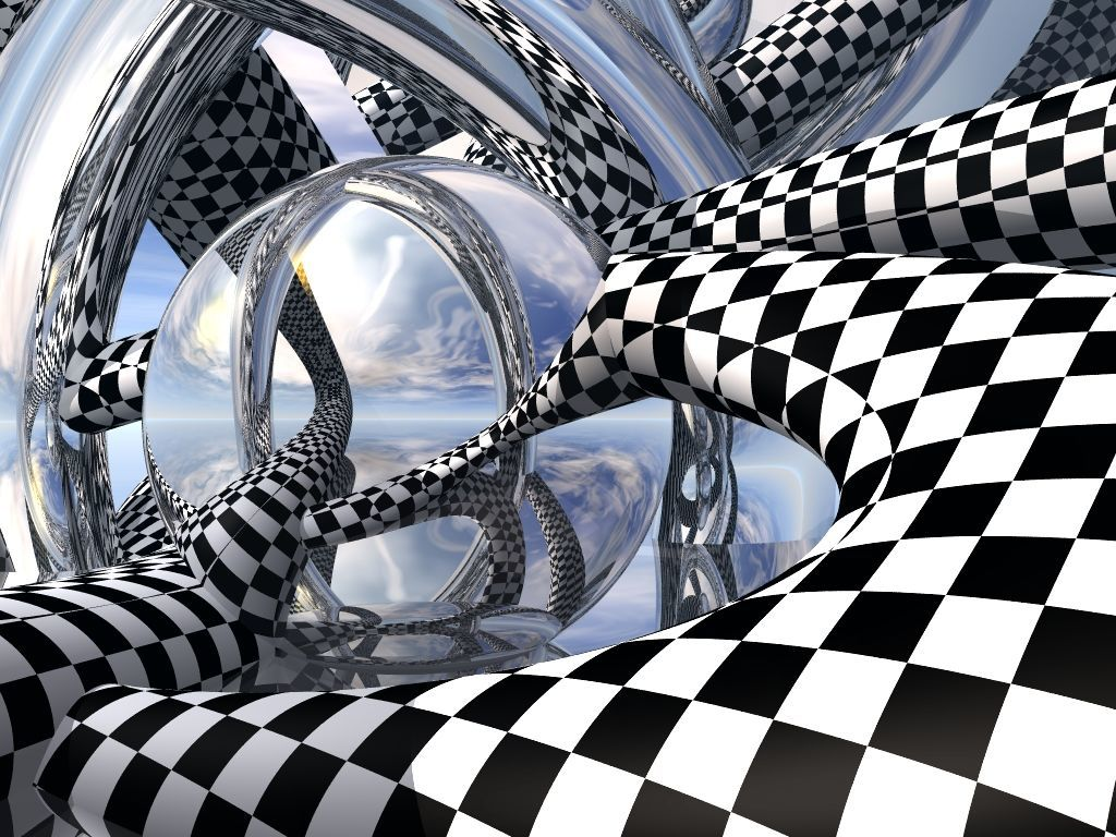 rods checkers squares abstract HD Wallpaper