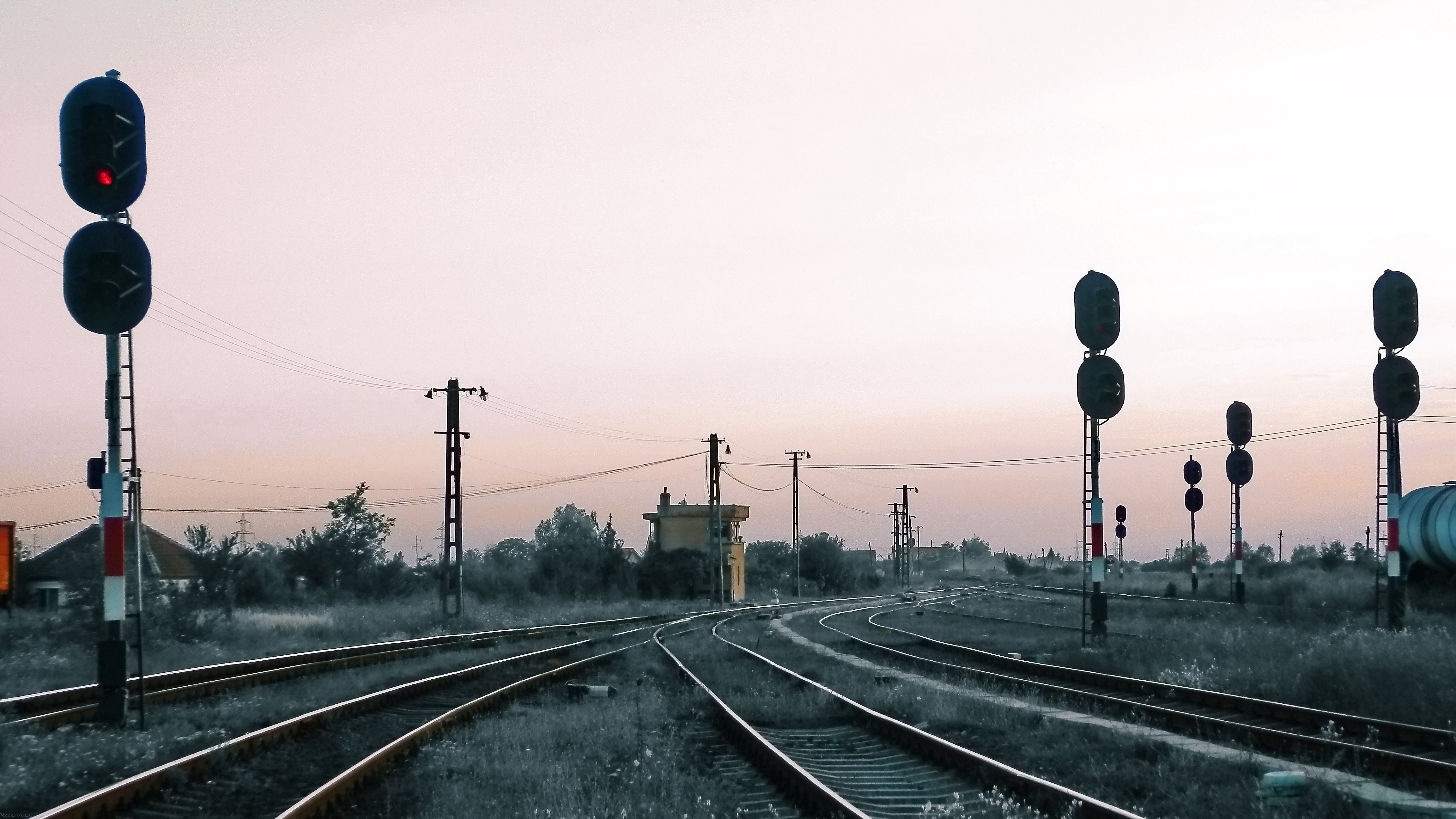 romania railroad tracks HD Wallpaper