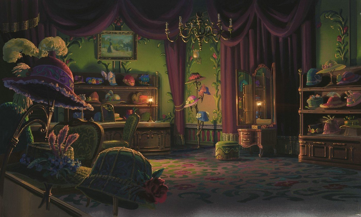 room interior Furniture Howl's HD Wallpaper