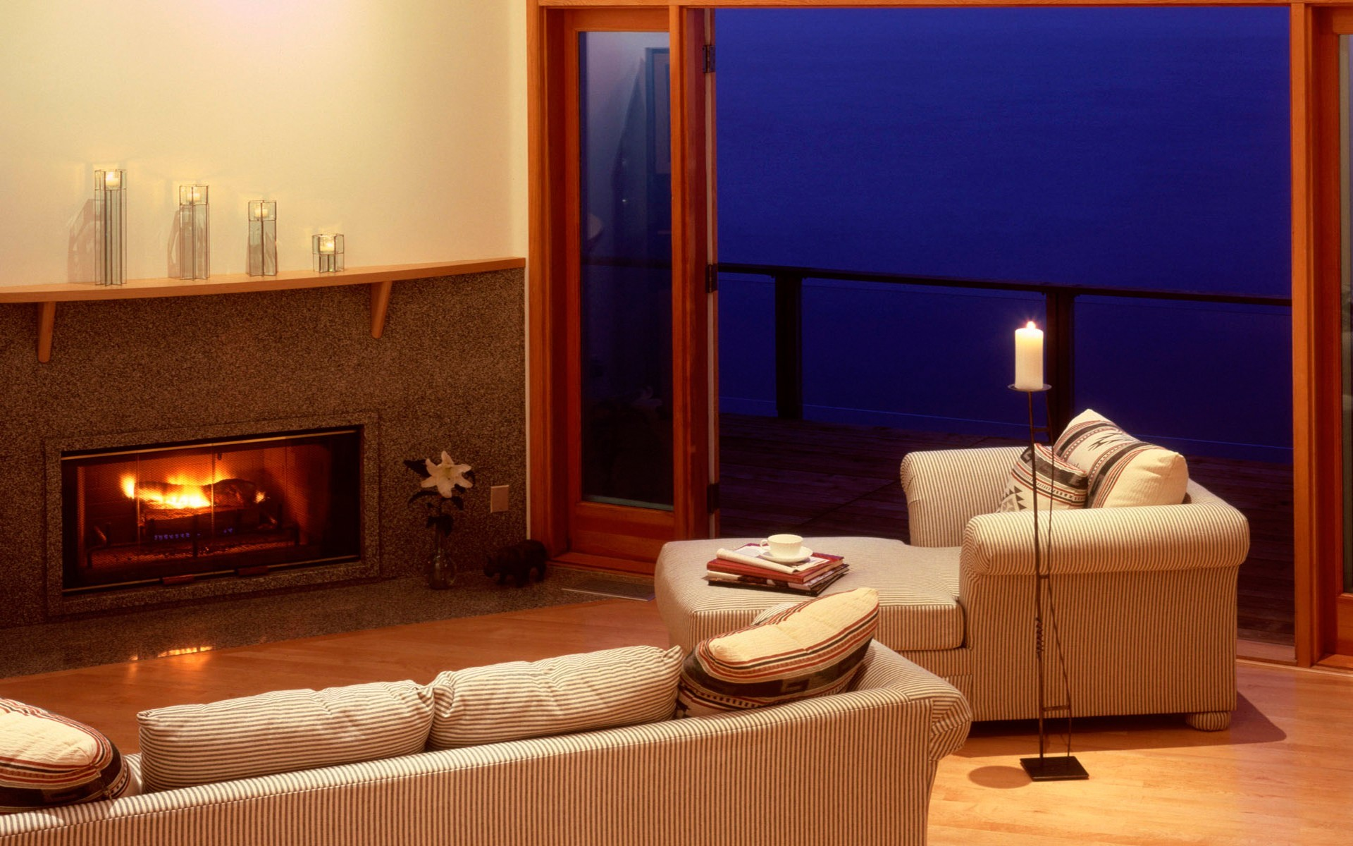 room woman fireplaces HD Wallpaper