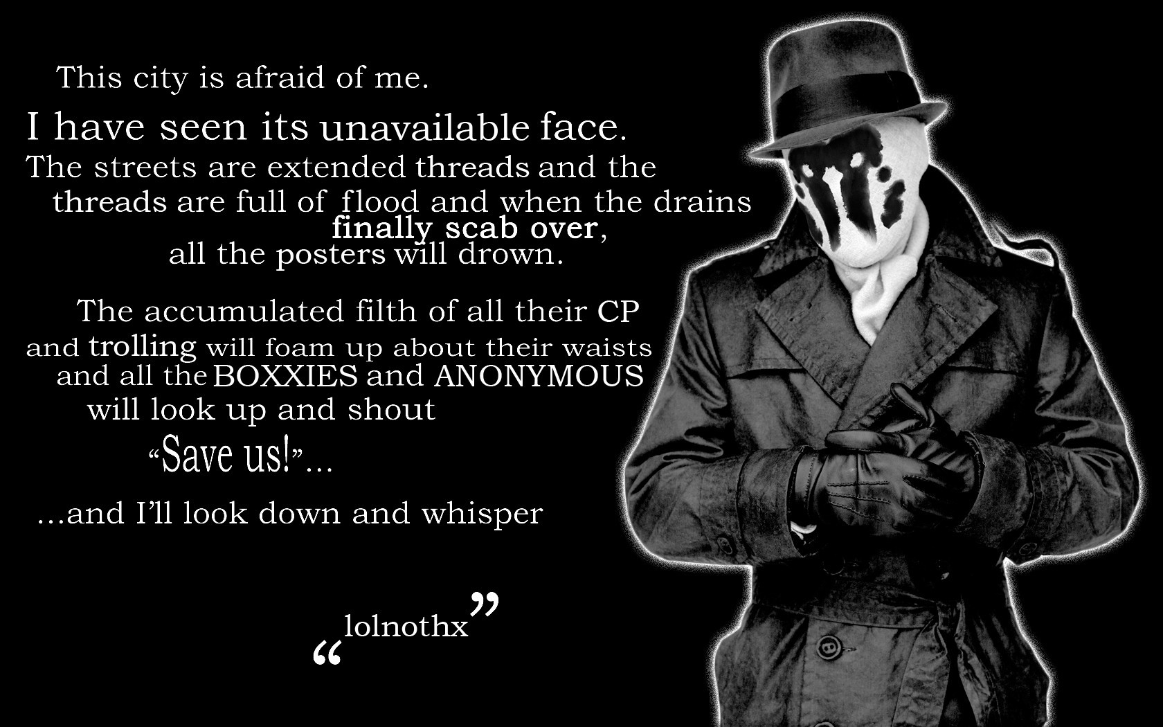 Rorschach Watchmen Quotes HD Wallpaper