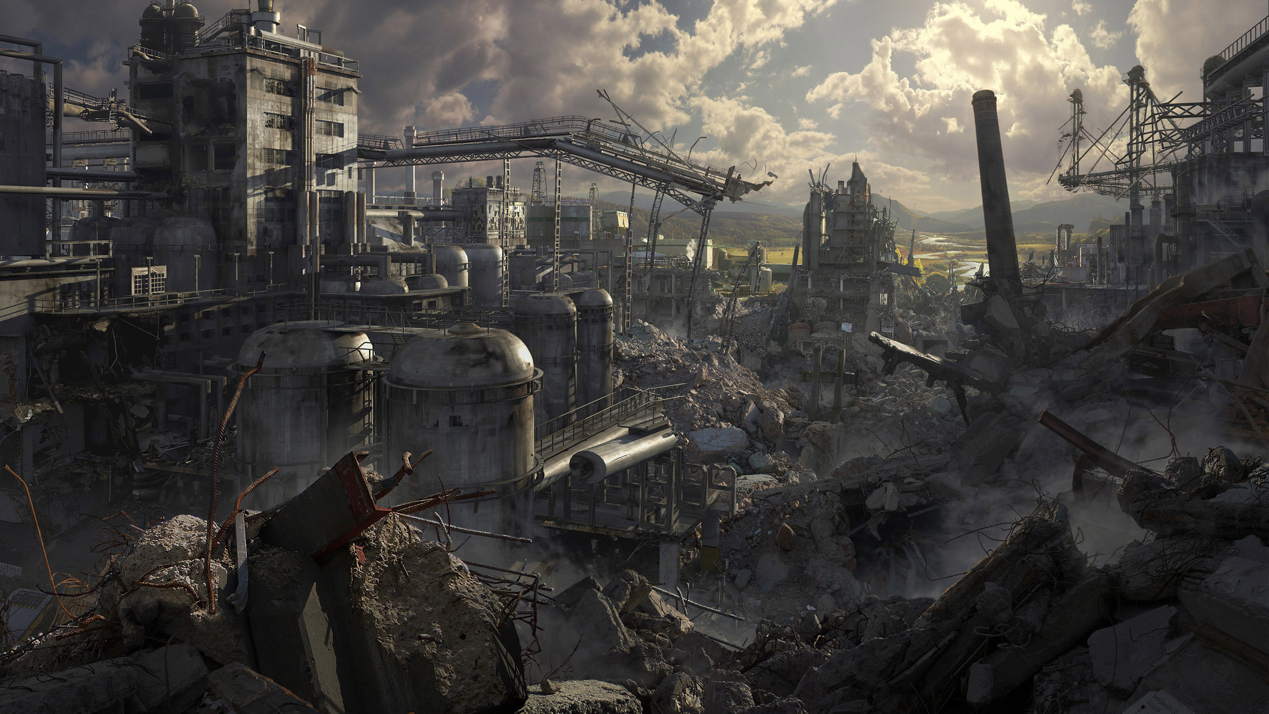 ruins post-apocalyptic artwork