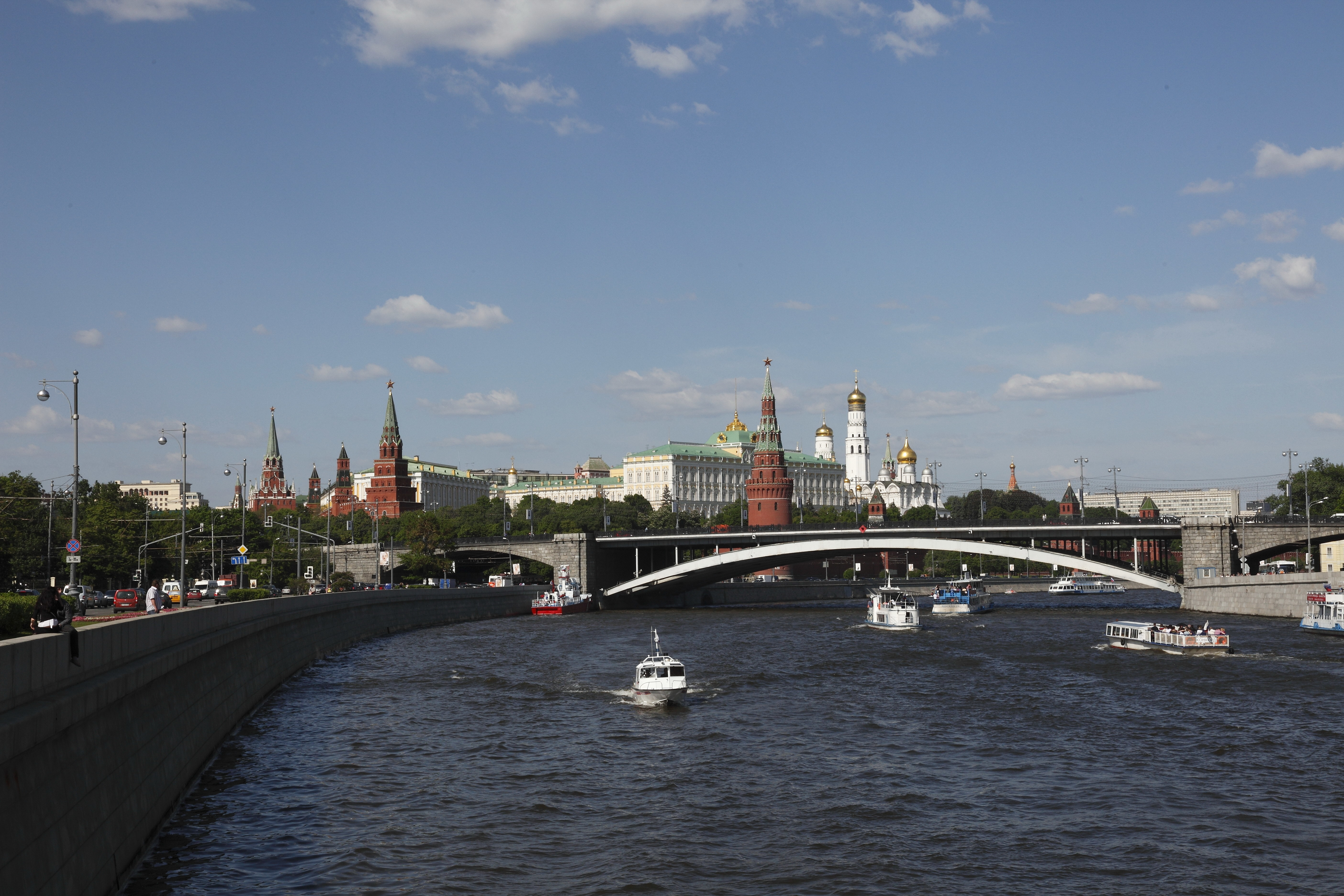 Russia Moscow rivers cities HD Wallpaper