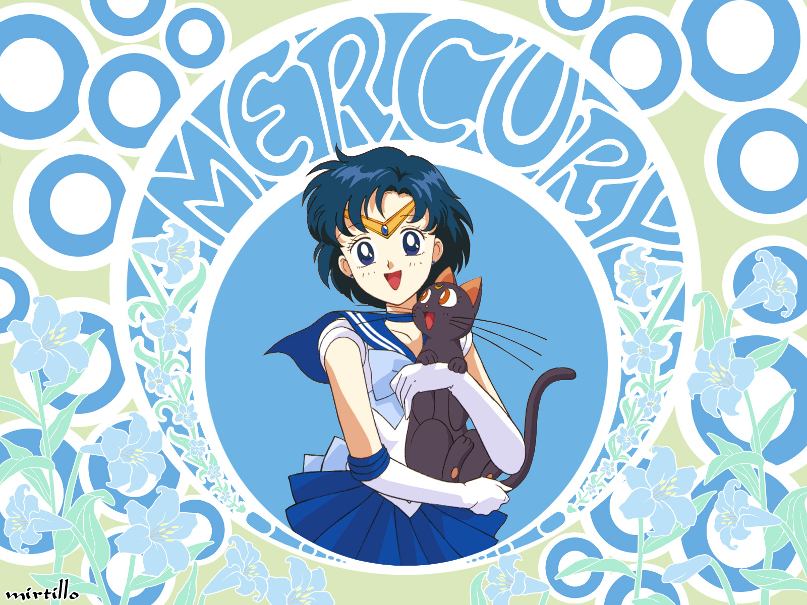 sailor moon blue hair HD Wallpaper