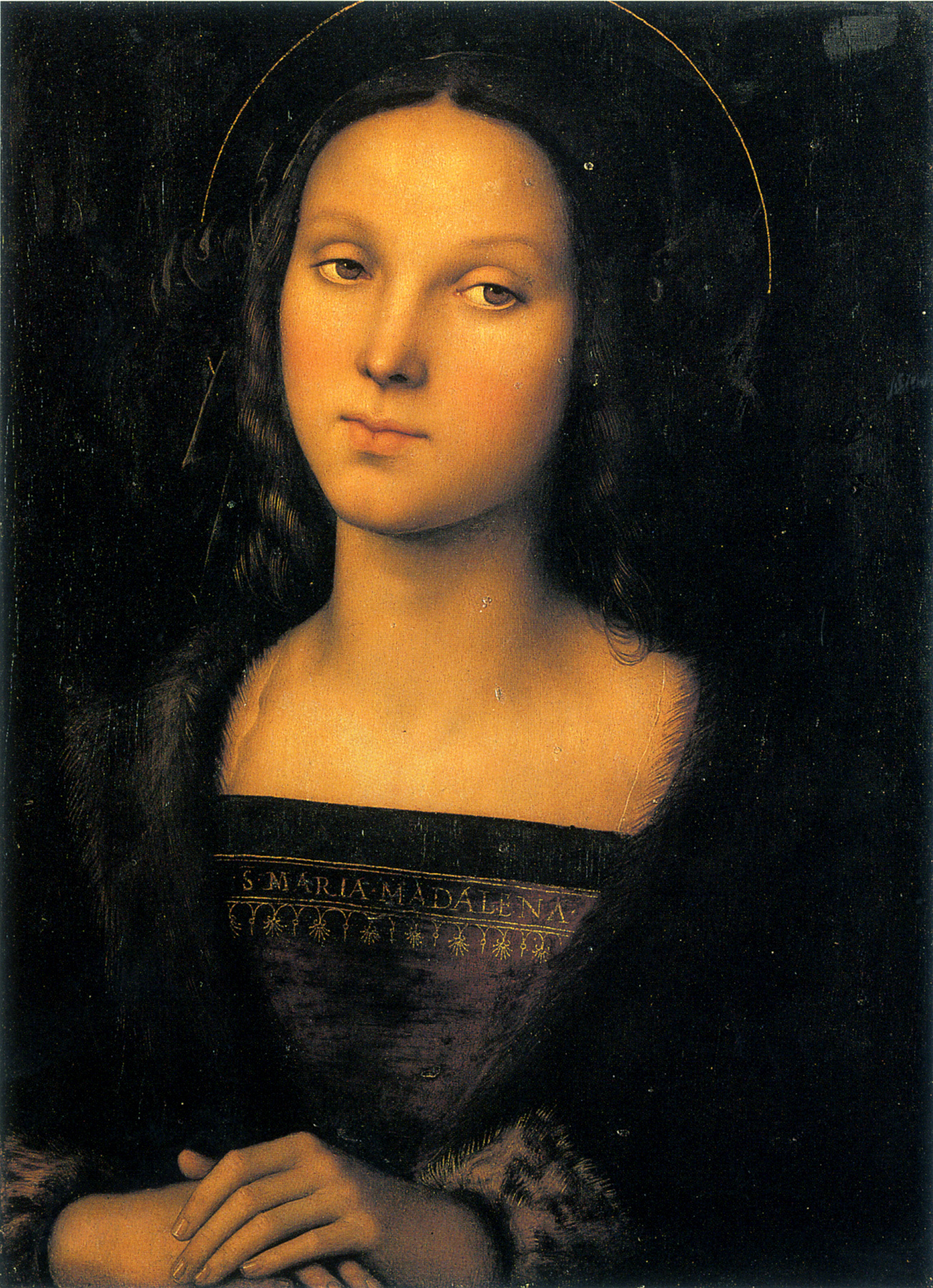 saint mary magdalene perugino HD Wallpaper