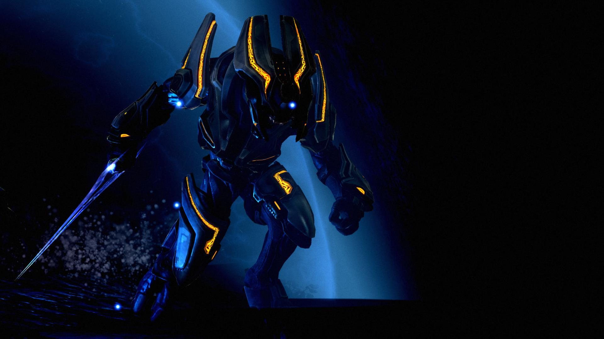sangheili halo Swords HD Wallpaper
