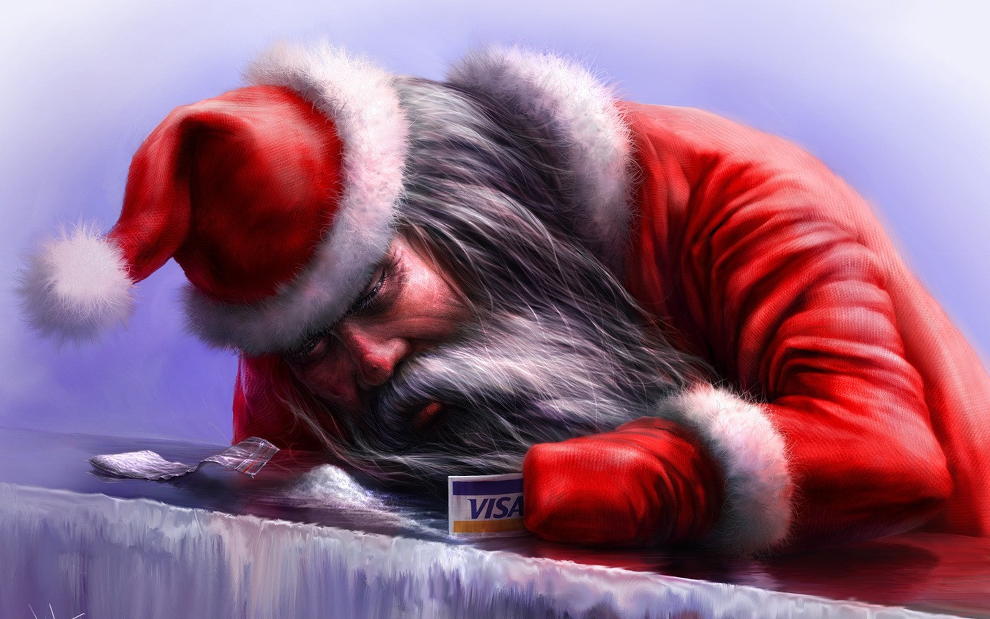 santa claus artwork HD Wallpaper
