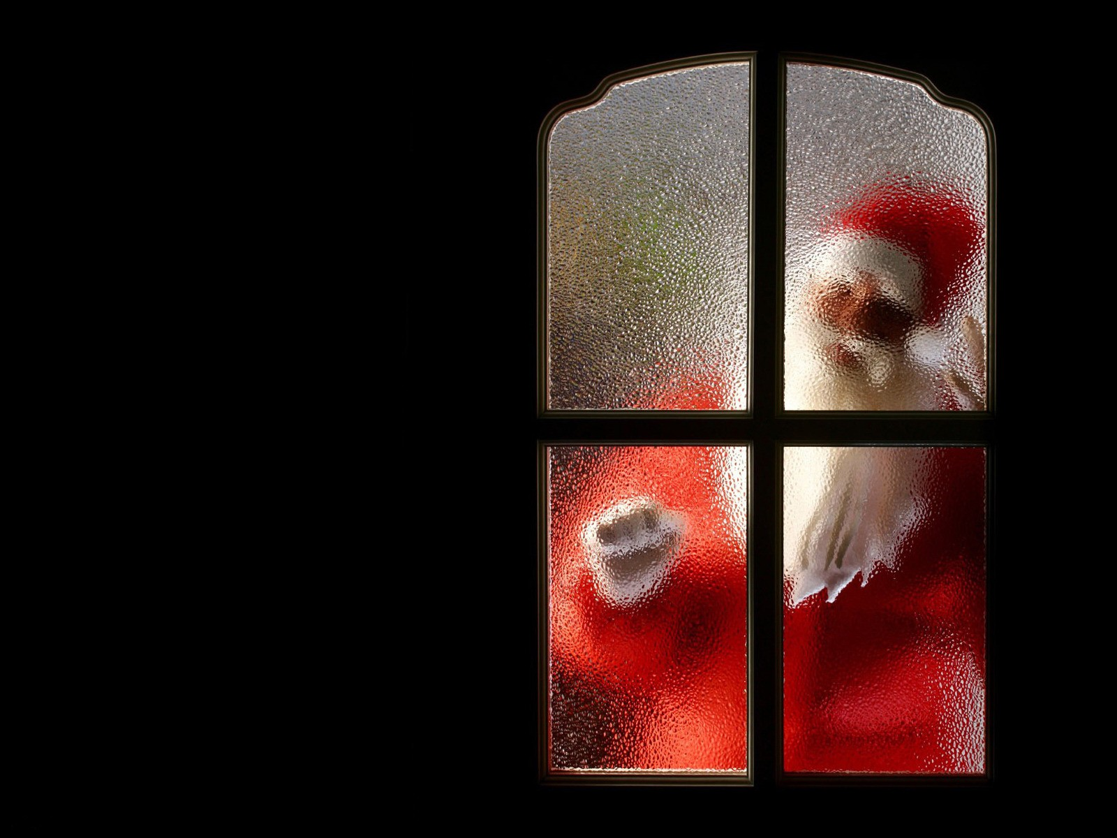 santa claus blurred doors HD Wallpaper