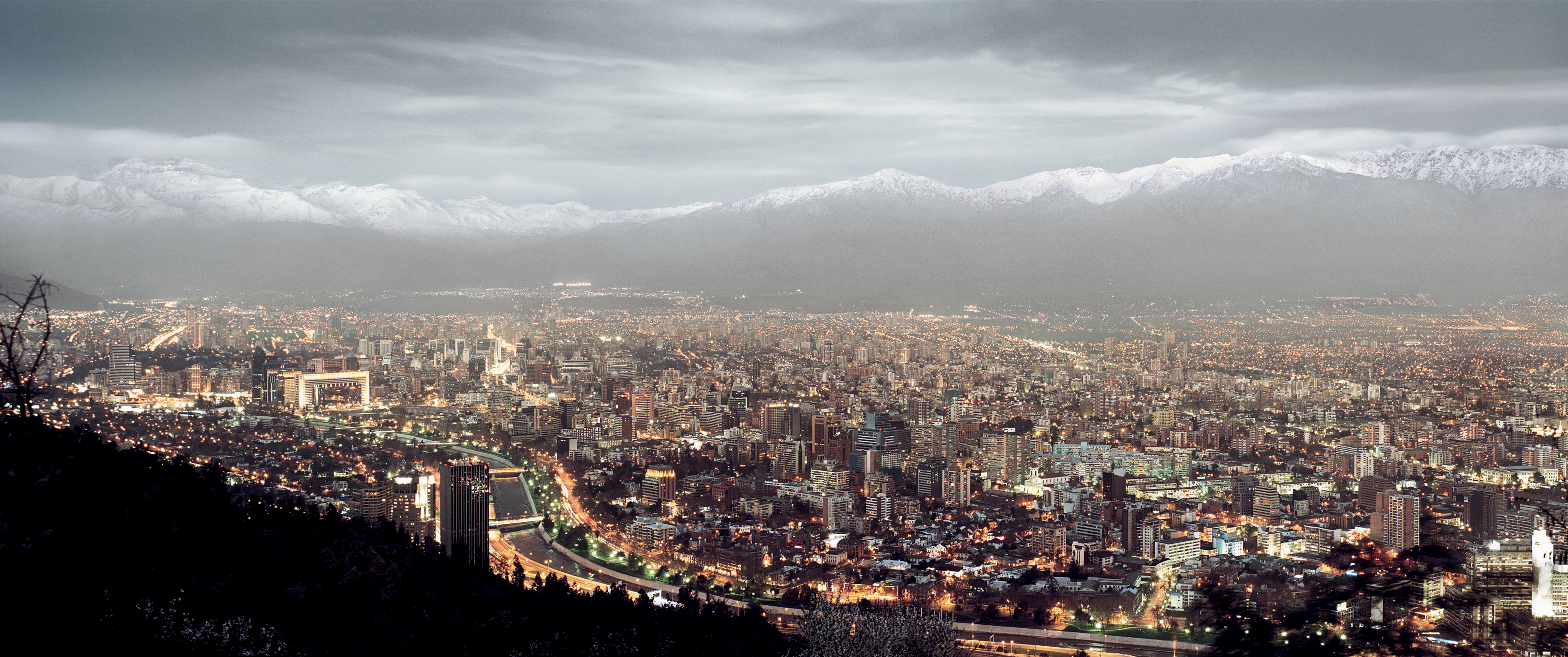 Santiago chile high World HD Wallpaper