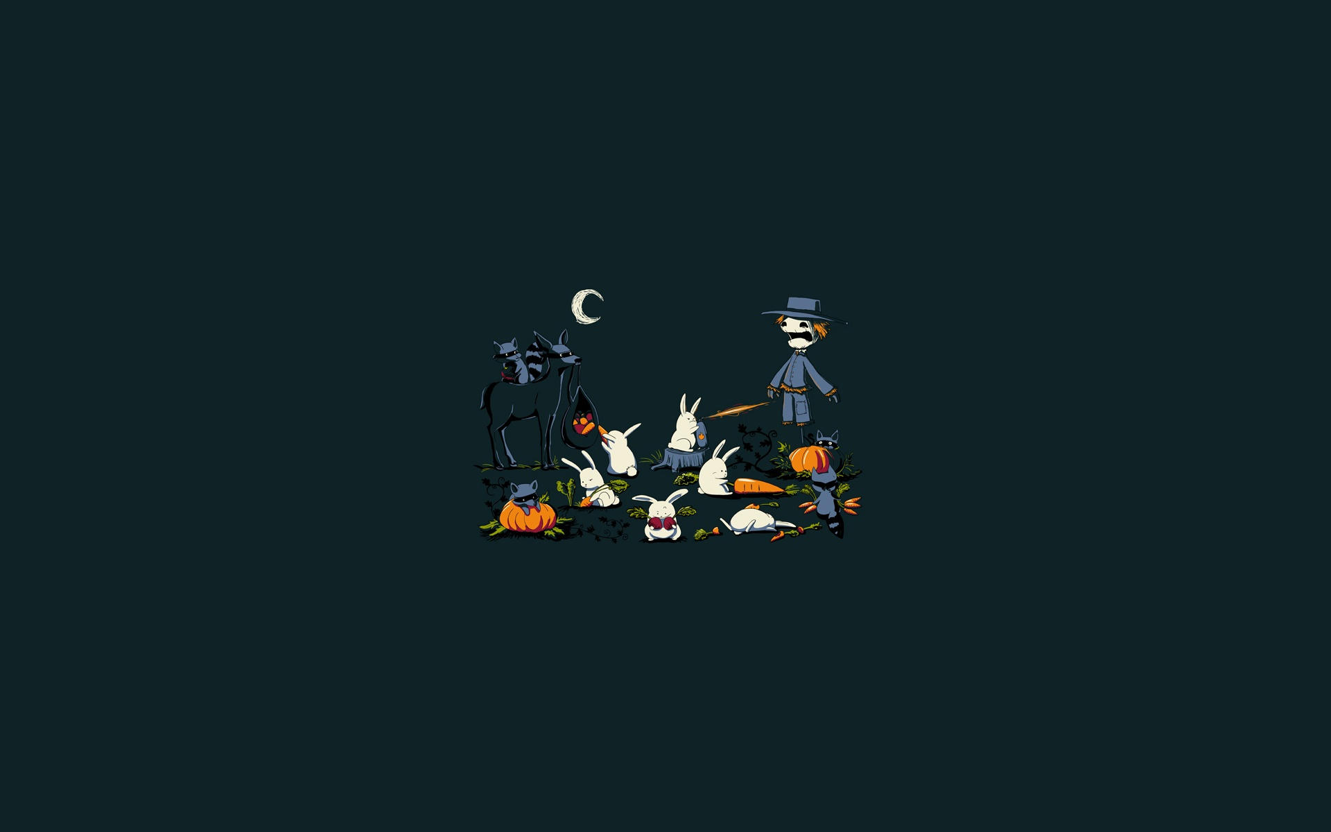 scarecrow minimalistic food funny HD Wallpaper