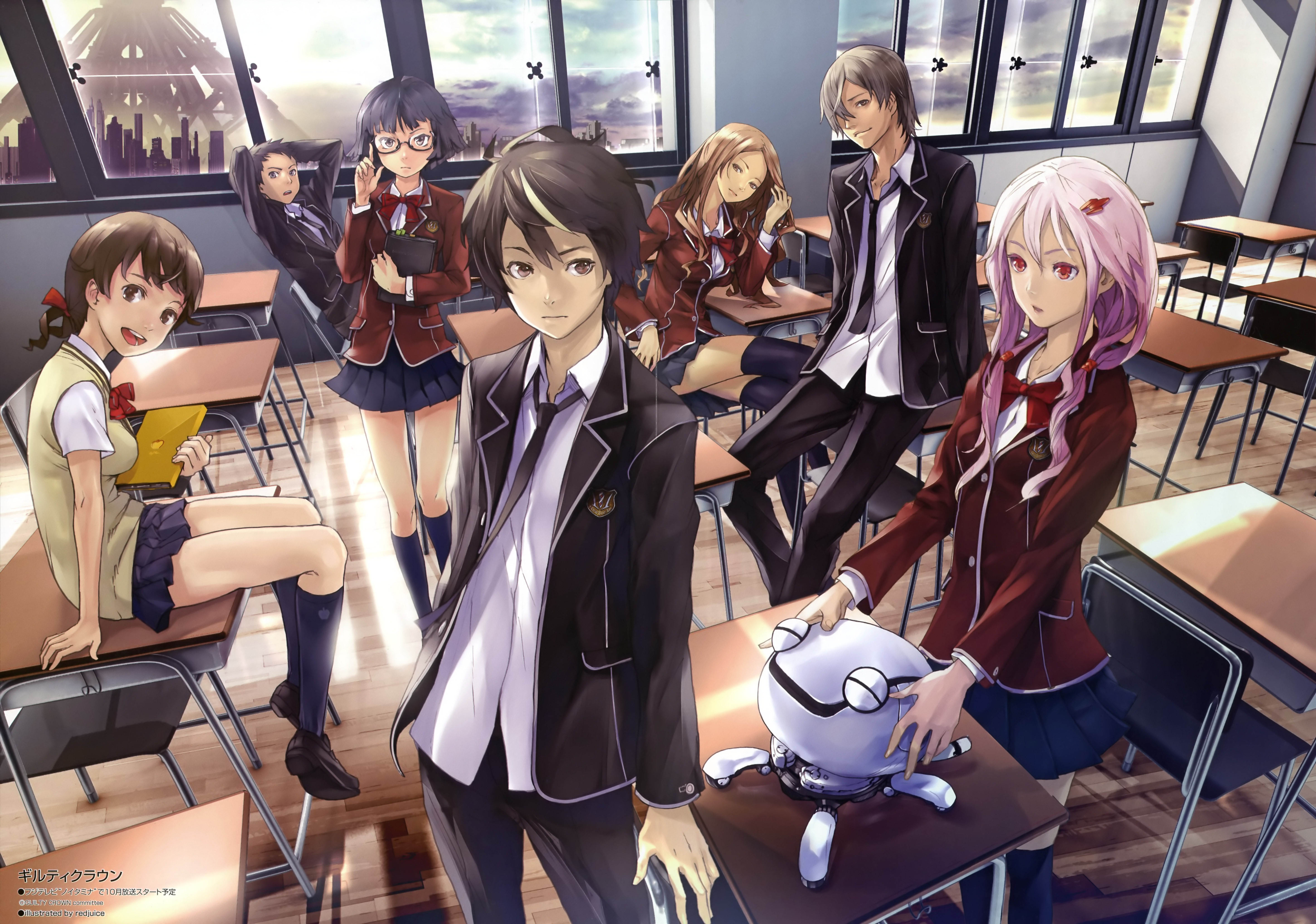 school uniforms Anime guilty HD Wallpaper