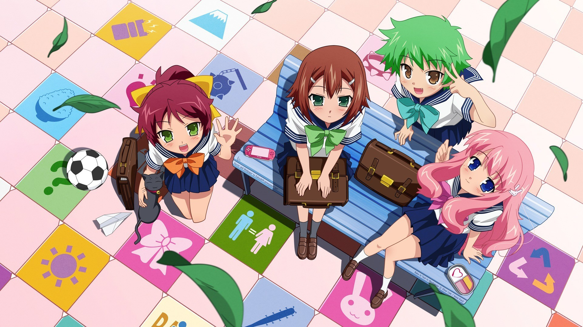 school uniforms baka to HD Wallpaper