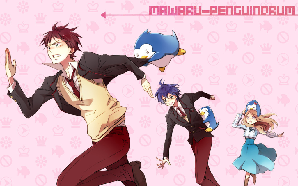 school uniforms Penguins anime HD Wallpaper