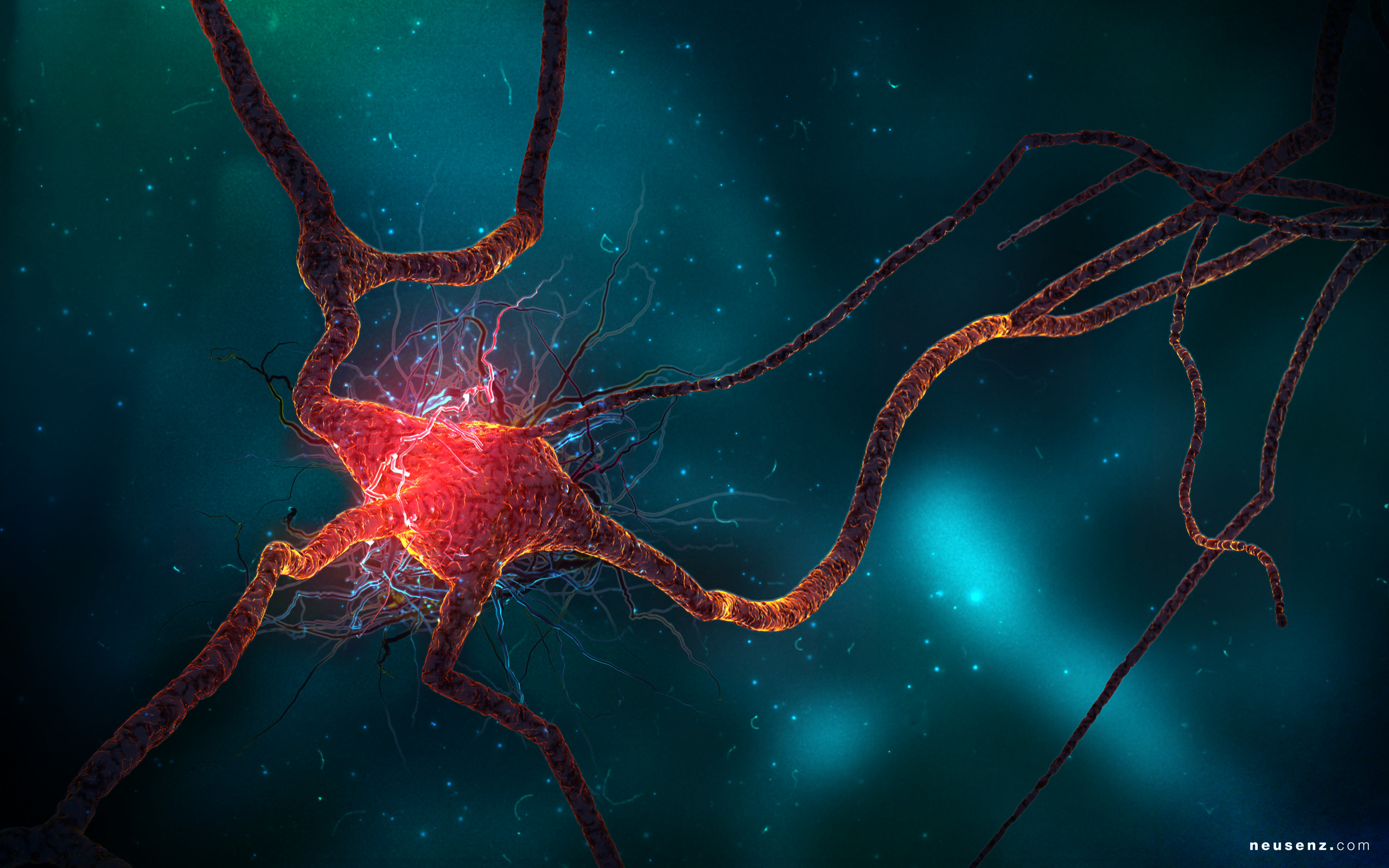 Science fiction neuroscience synapse HD Wallpaper