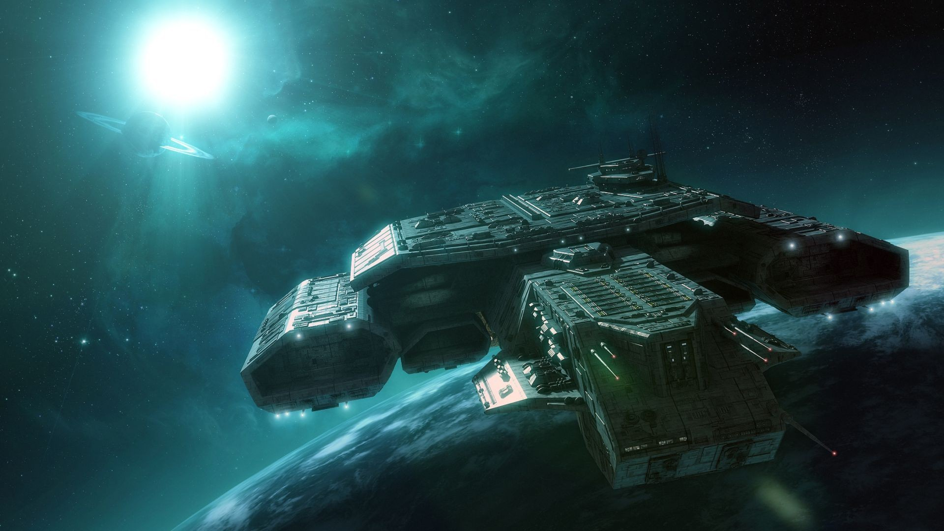 science fiction vehicles 3d HD Wallpaper
