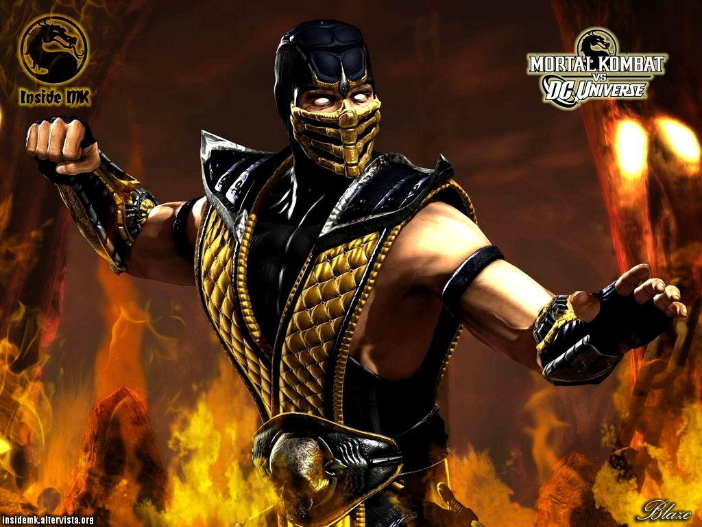 scorpion mortal kombat logo HD Wallpaper