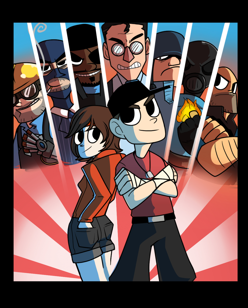 scott pilgrim Team fortress