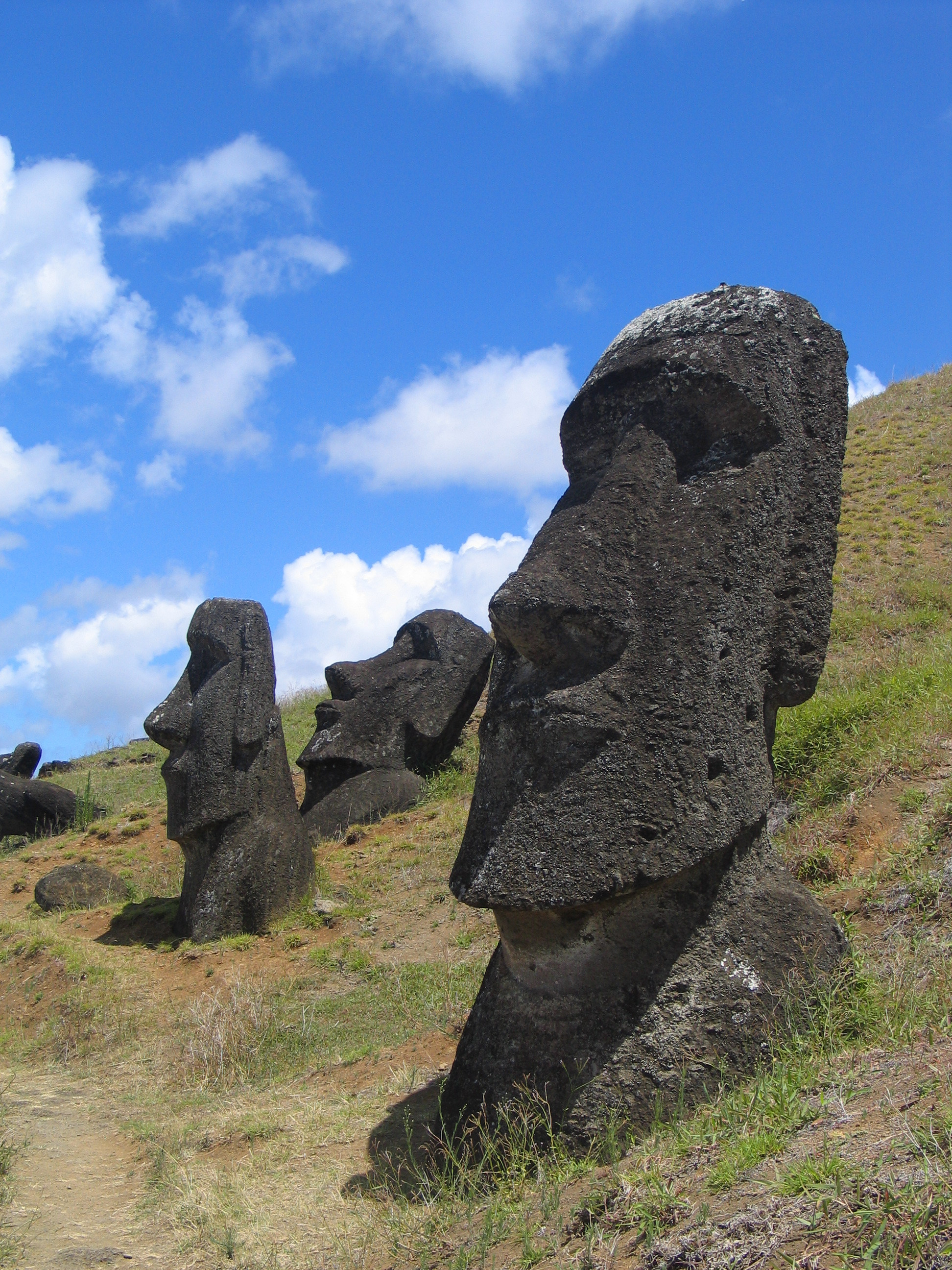 sculptures Easter Island HD Wallpaper