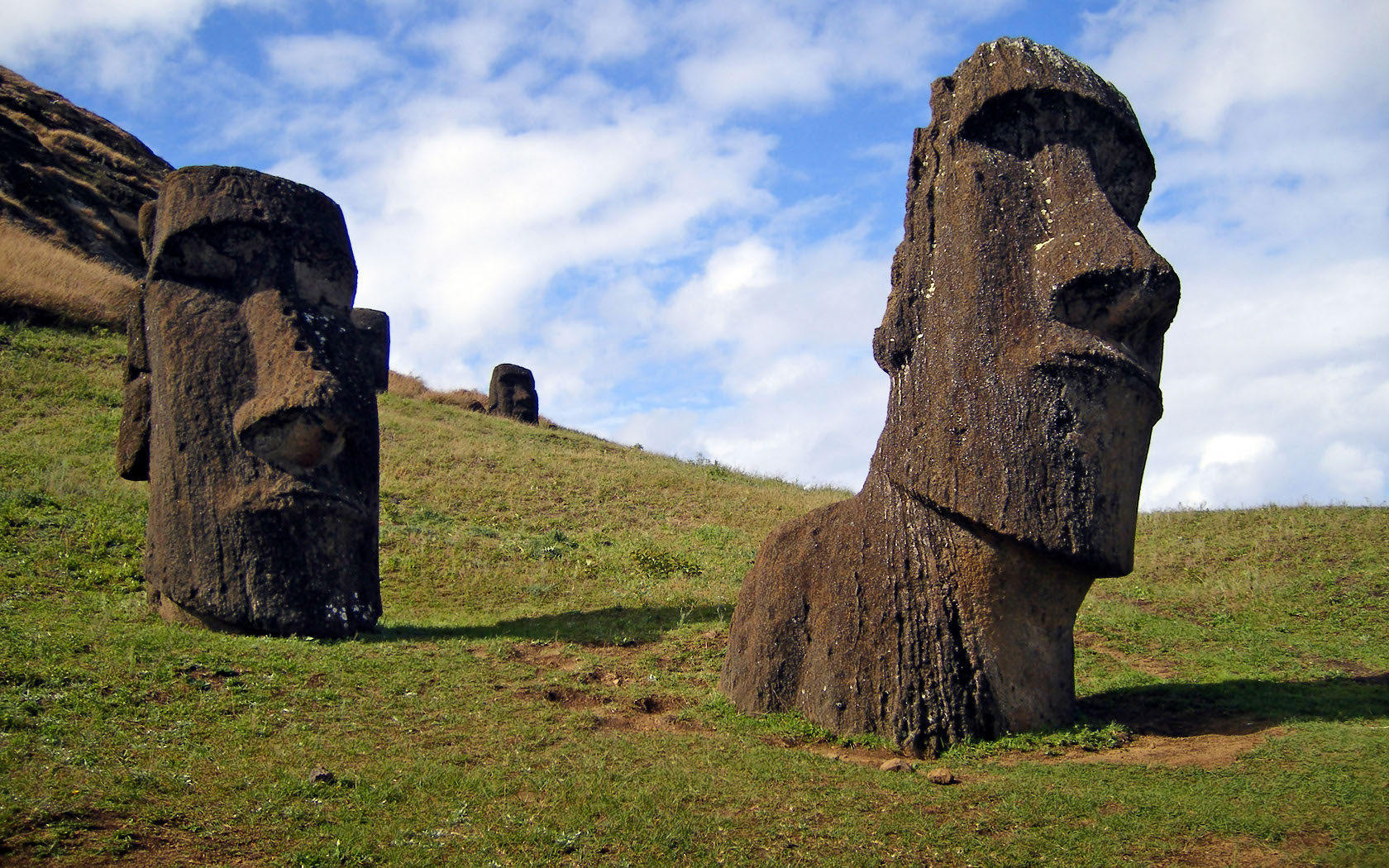 sculptures Easter Island Landscapes HD Wallpaper