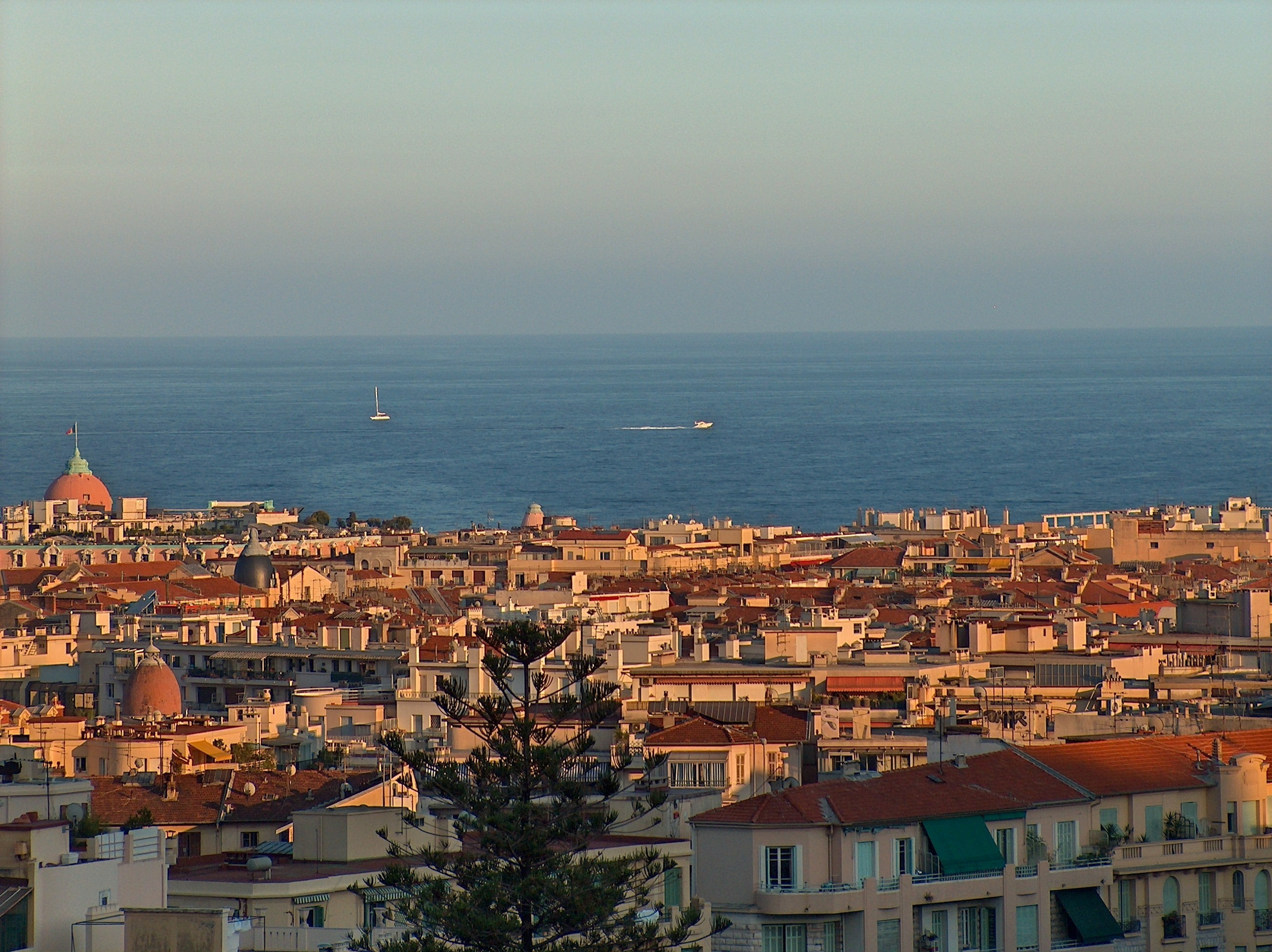 Sea France nizza cityscapes HD Wallpaper