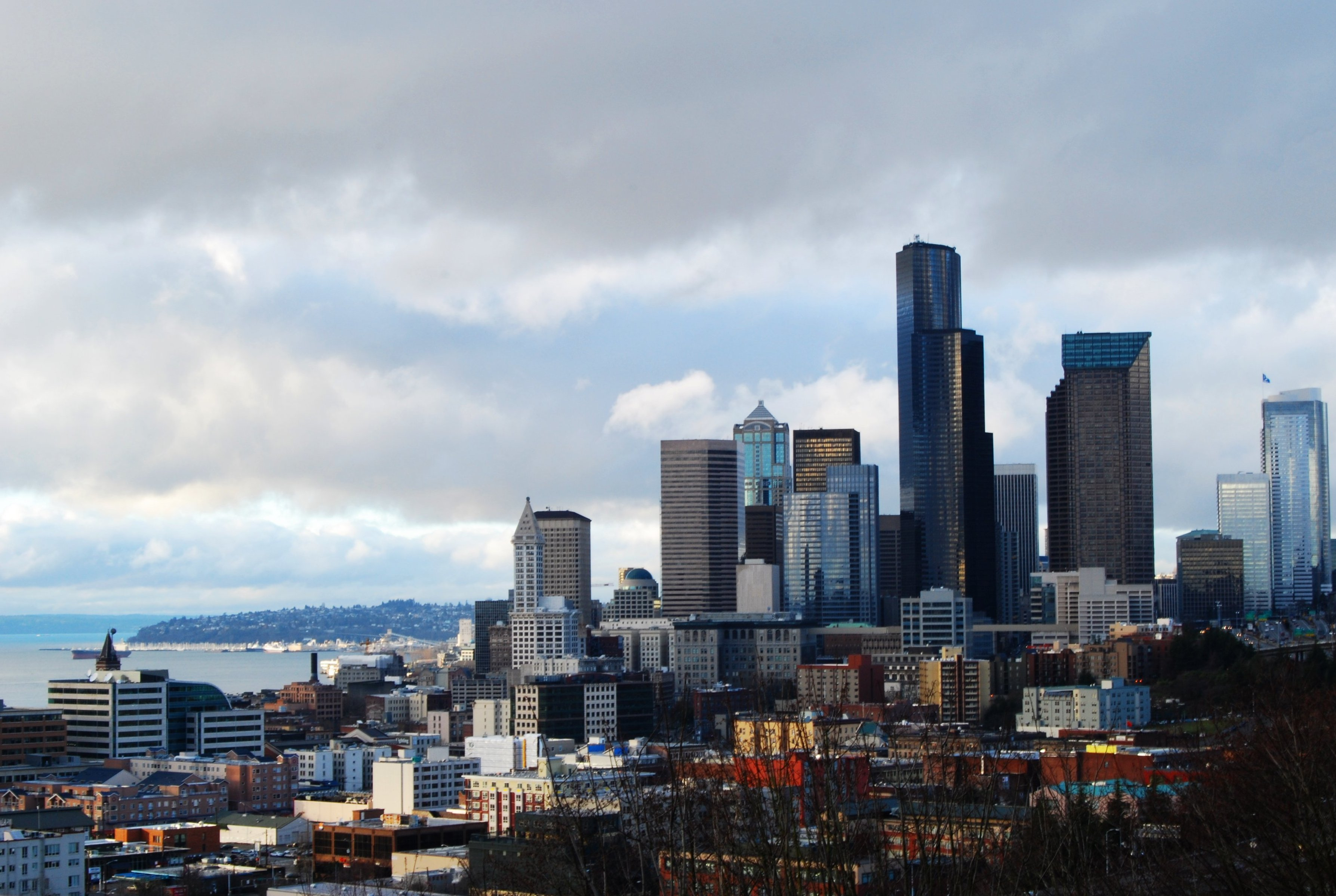 Seattle skyline from rizal HD Wallpaper
