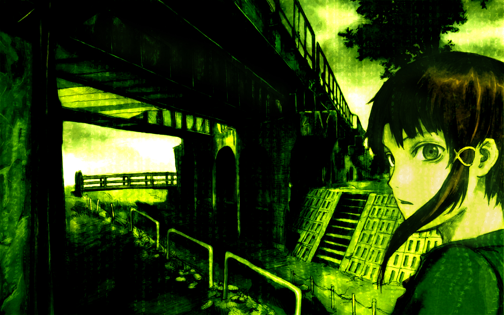 serial experiments lain Anime HD Wallpaper