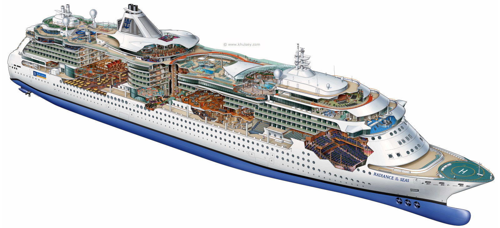 ships diagram cutaway cruise HD Wallpaper