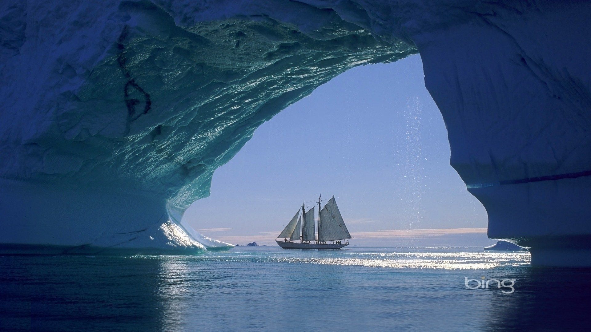 ships icebergs Sailboats Greenland HD Wallpaper