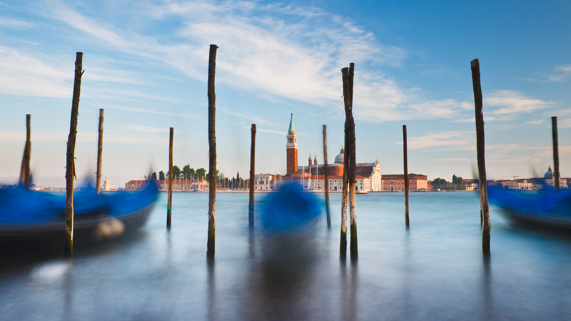 ships venice long exposure HD Wallpaper