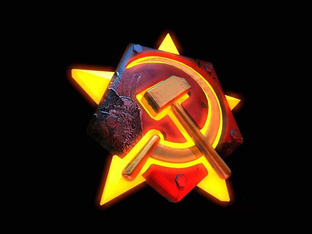 sickle star Soviet logo