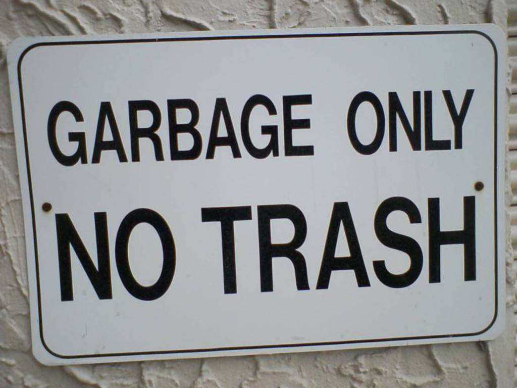 signs funny garbage trash HD Wallpaper