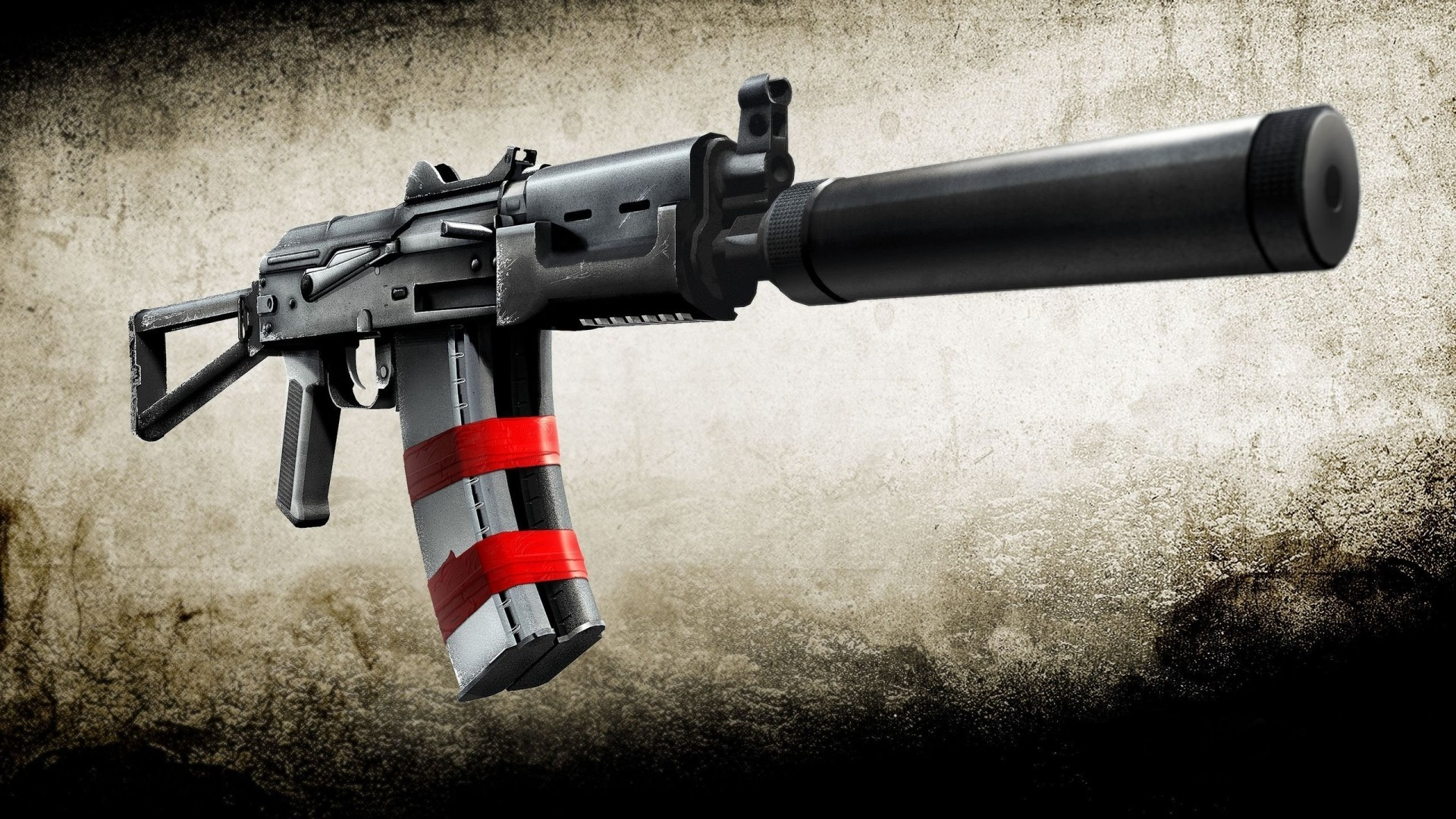 silencer fan art AKS-74U HD Wallpaper