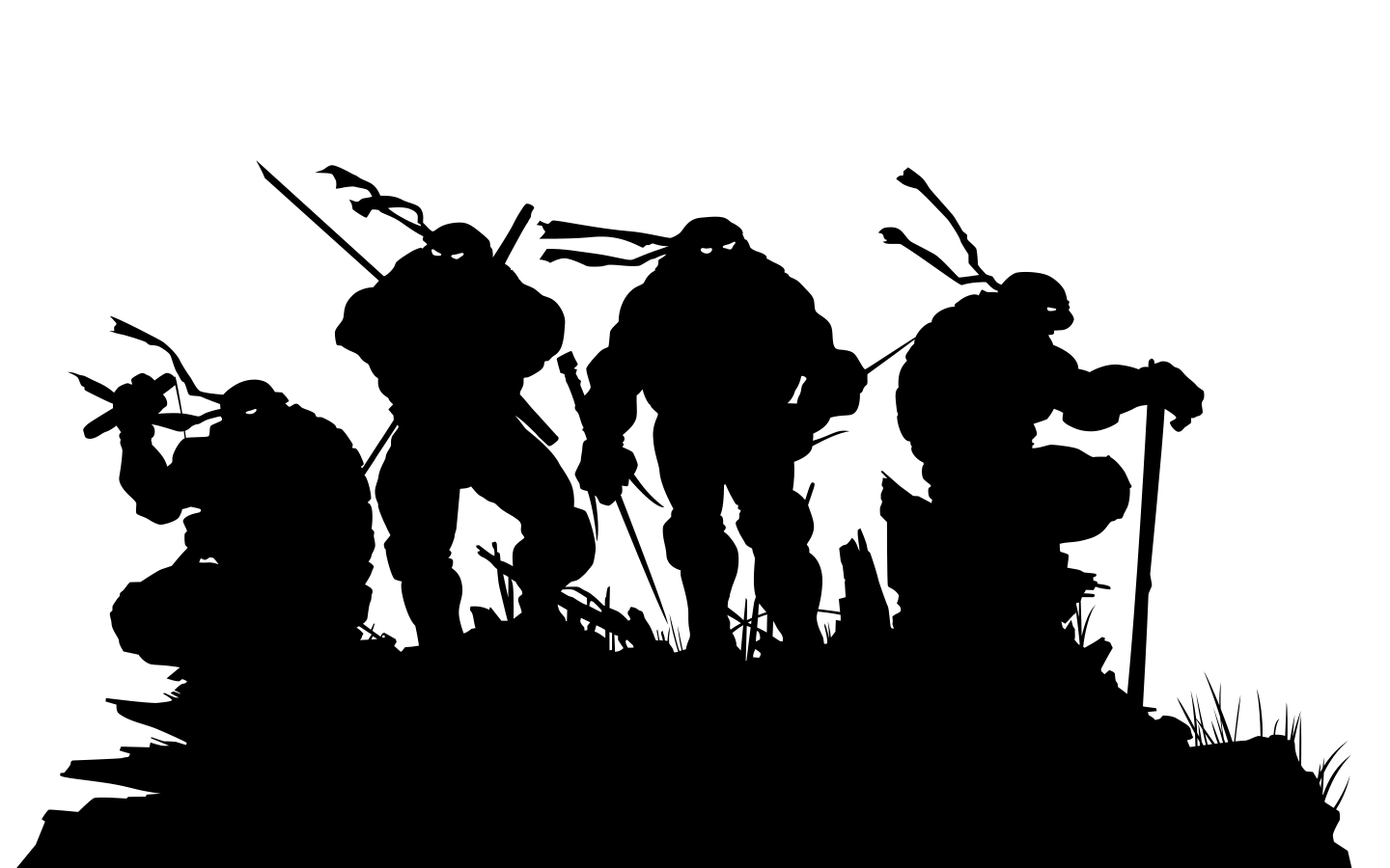 silhouette teenage mutant ninja HD Wallpaper
