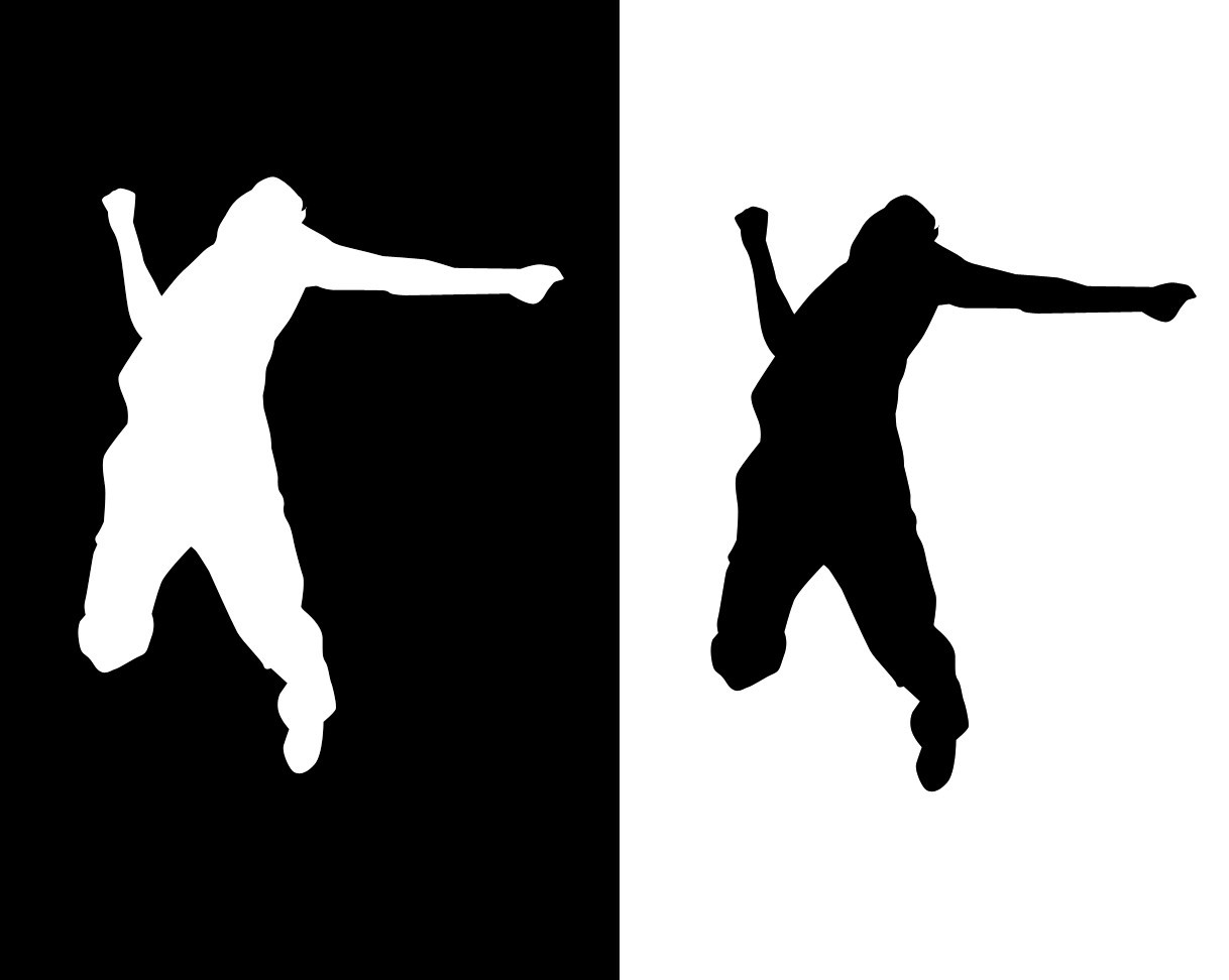 silhouettes jumping monochrome HD Wallpaper