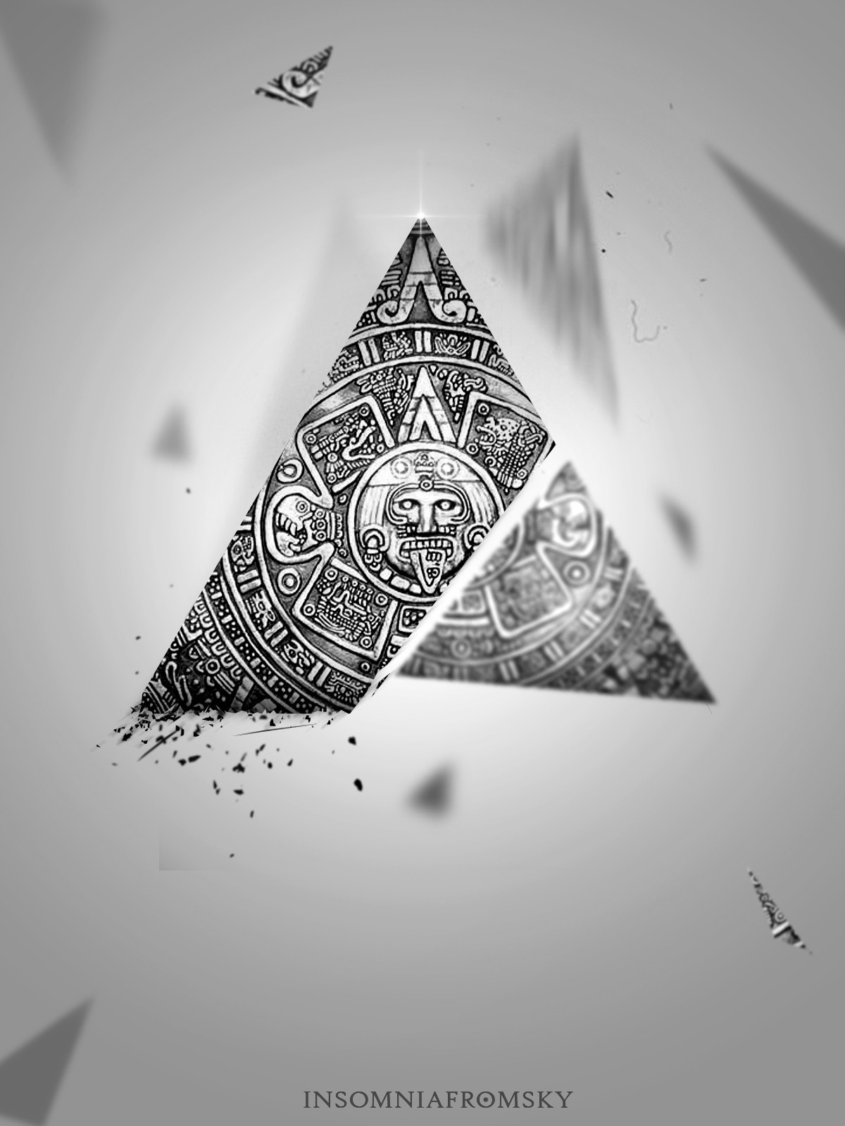 silver aztec HD Wallpaper