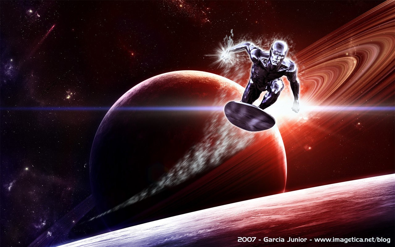 silver surfer artwork marvel