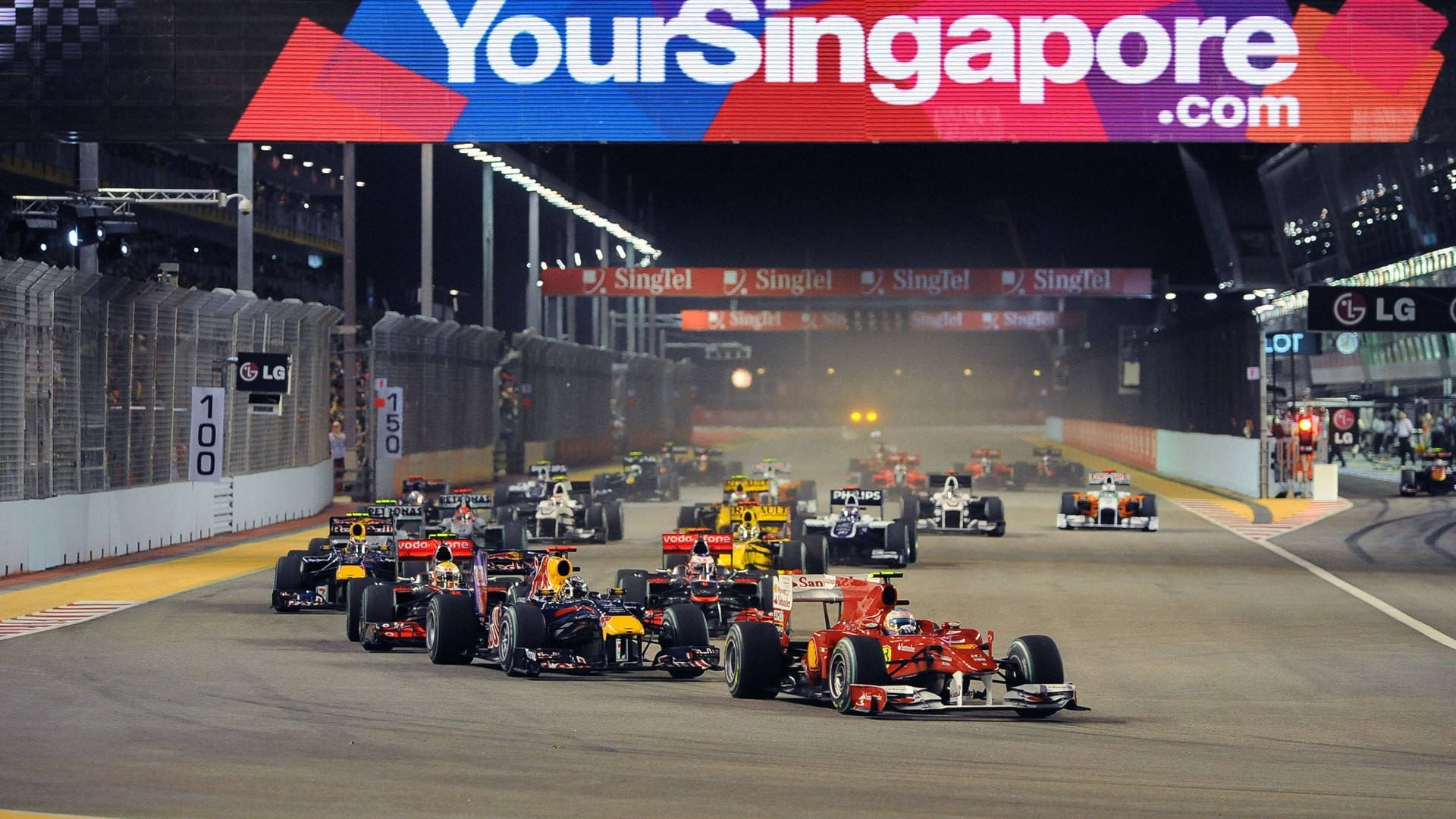 Singapore formula one fernando HD Wallpaper