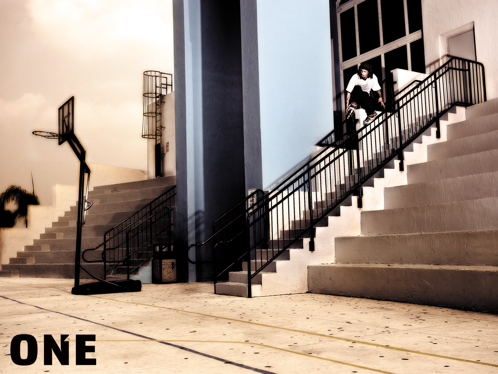 skate down stairs Sport HD Wallpaper