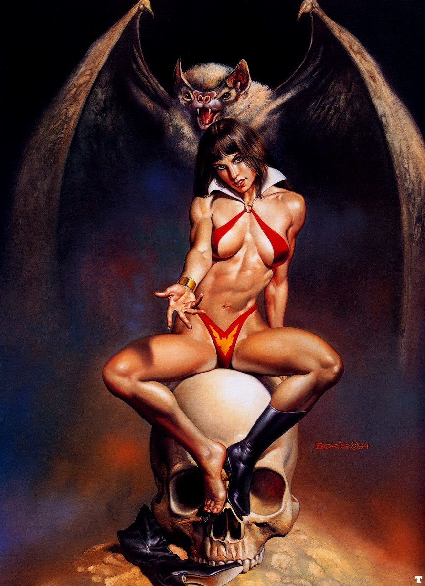 skulls comics Vampirella fantasy HD Wallpaper