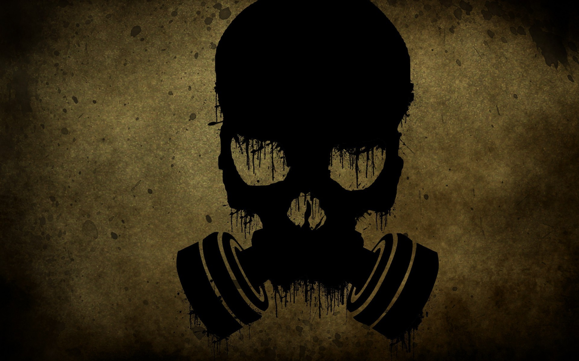 skulls gas masks HD Wallpaper
