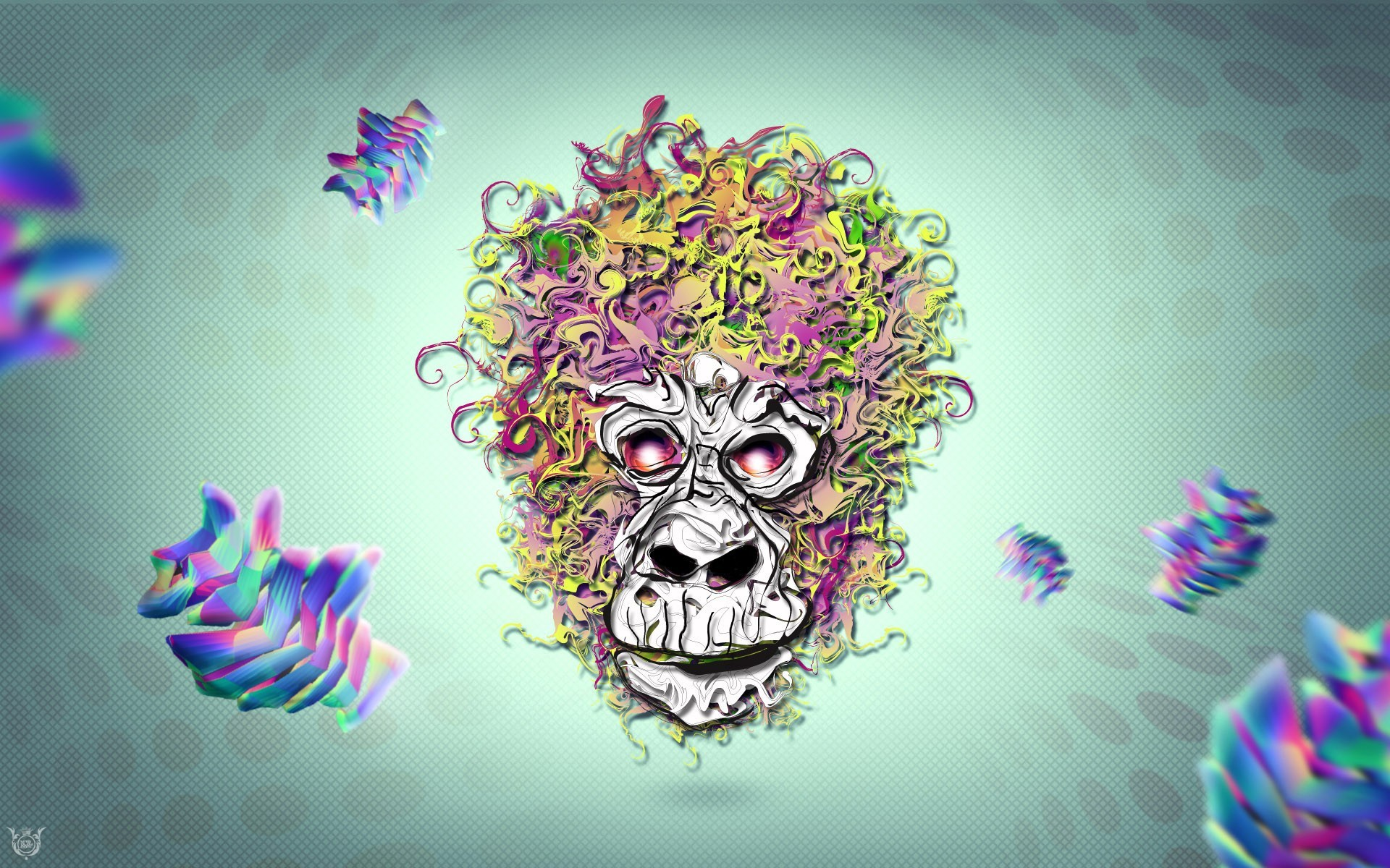 skulls monkeys HD Wallpaper