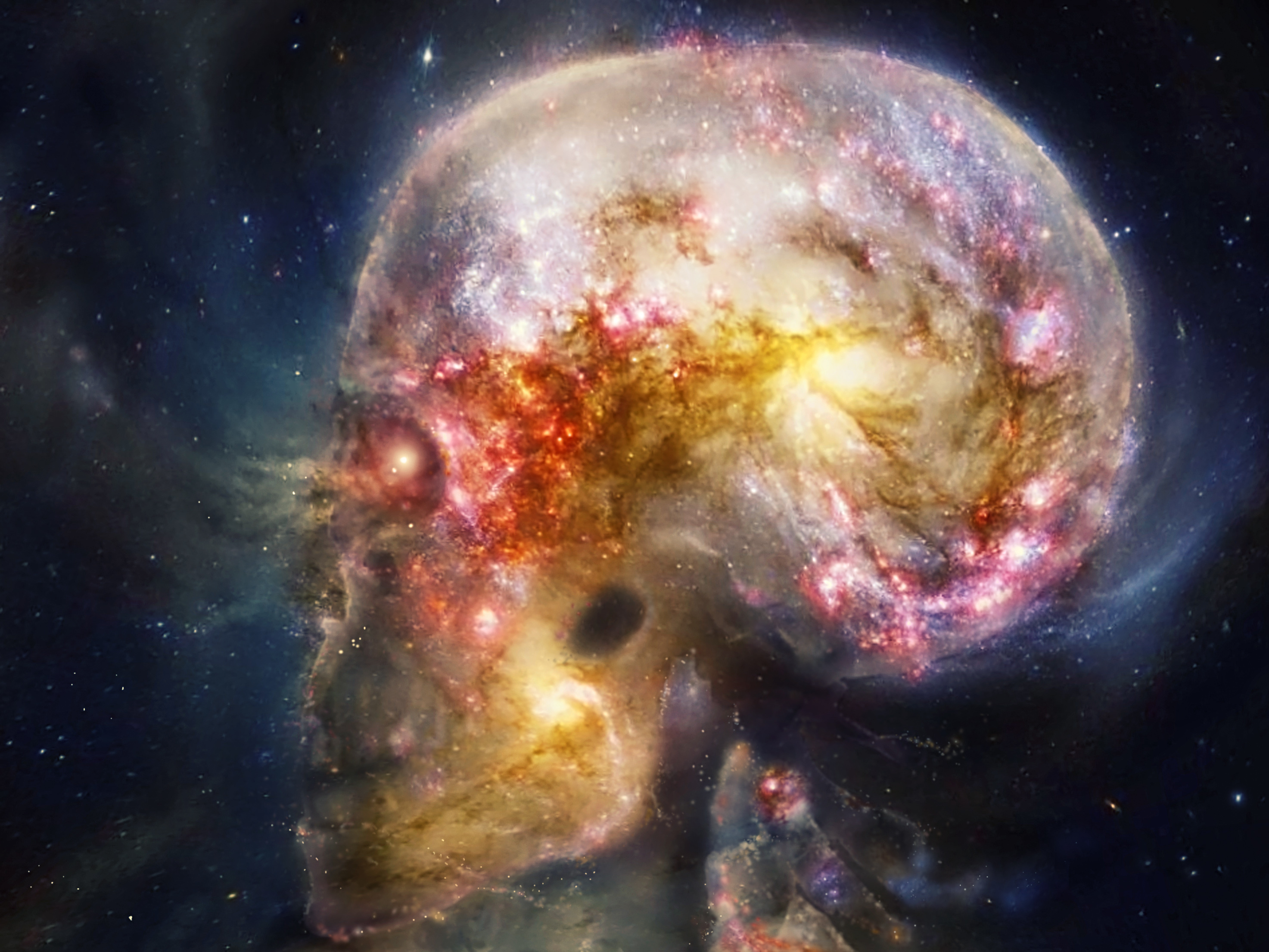 skulls nebulae HD Wallpaper