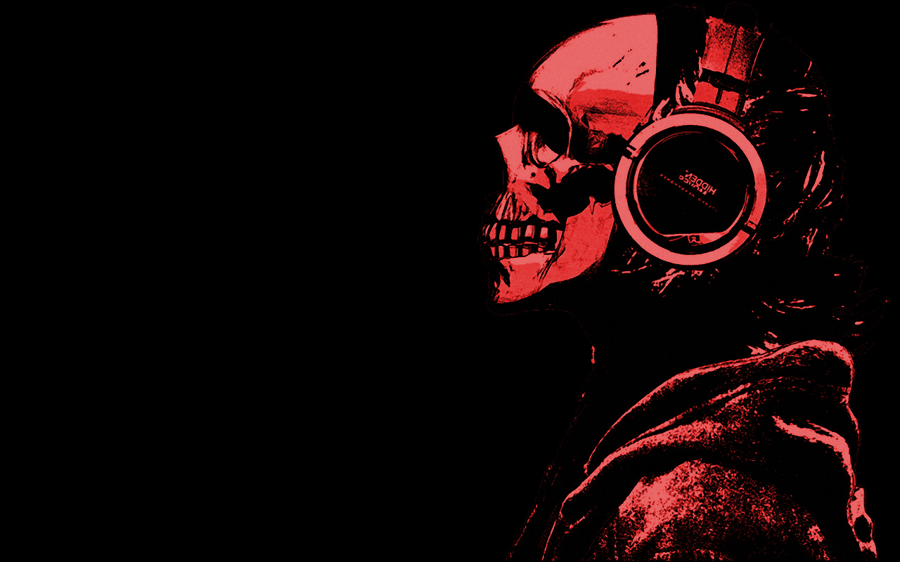 skulls Simple Background HD Wallpaper
