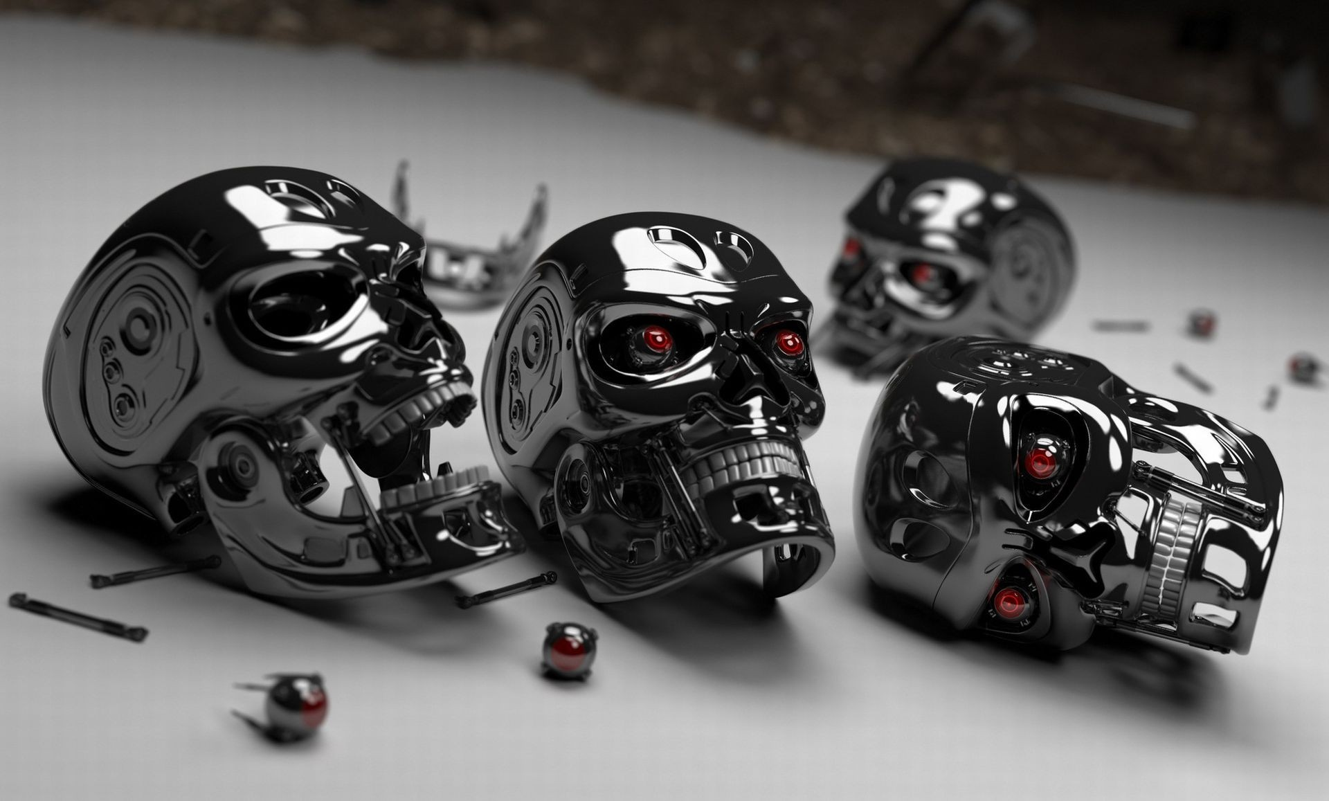skulls terminator HD Wallpaper