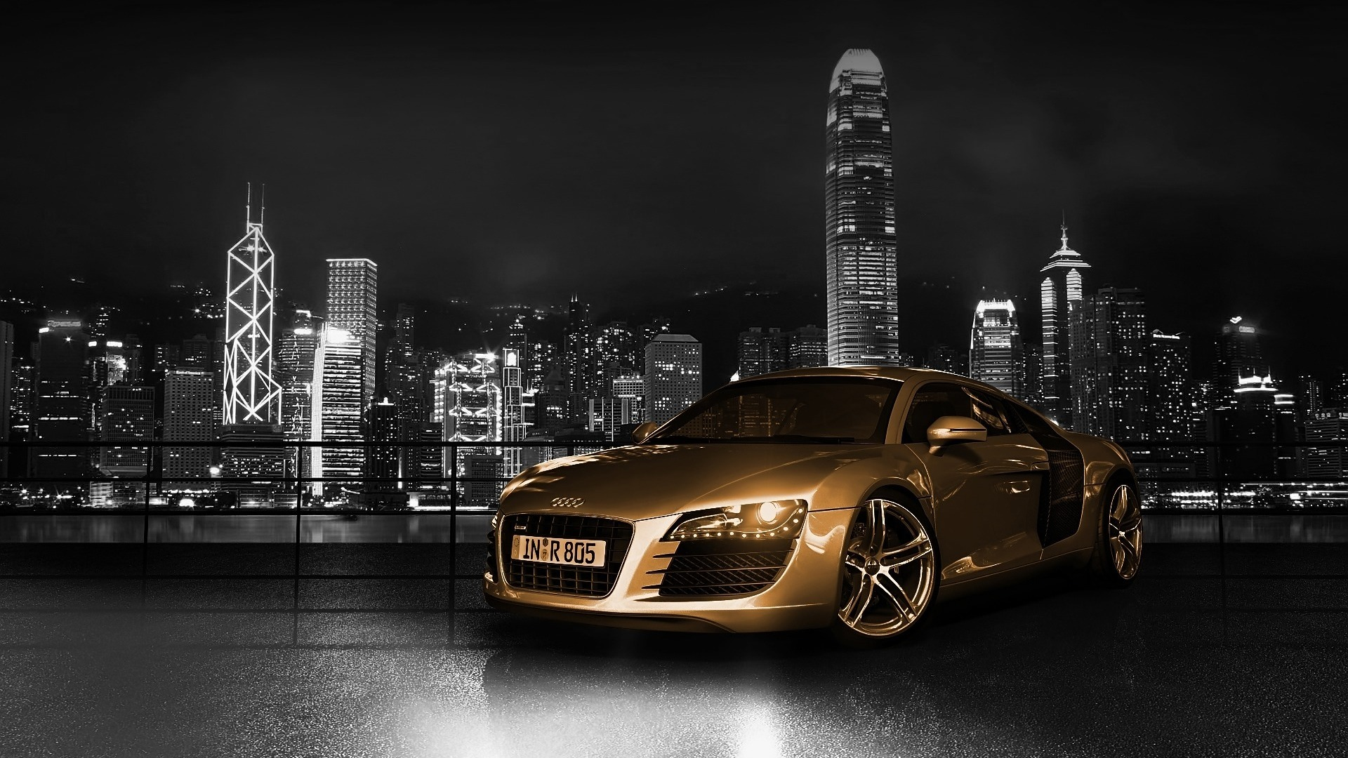 skylines cars Audi Hong HD Wallpaper