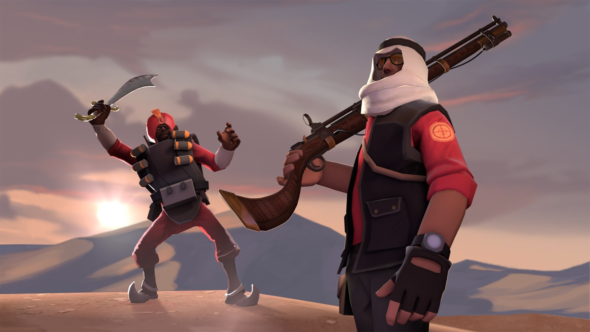 skylines Demoman TF2 team HD Wallpaper