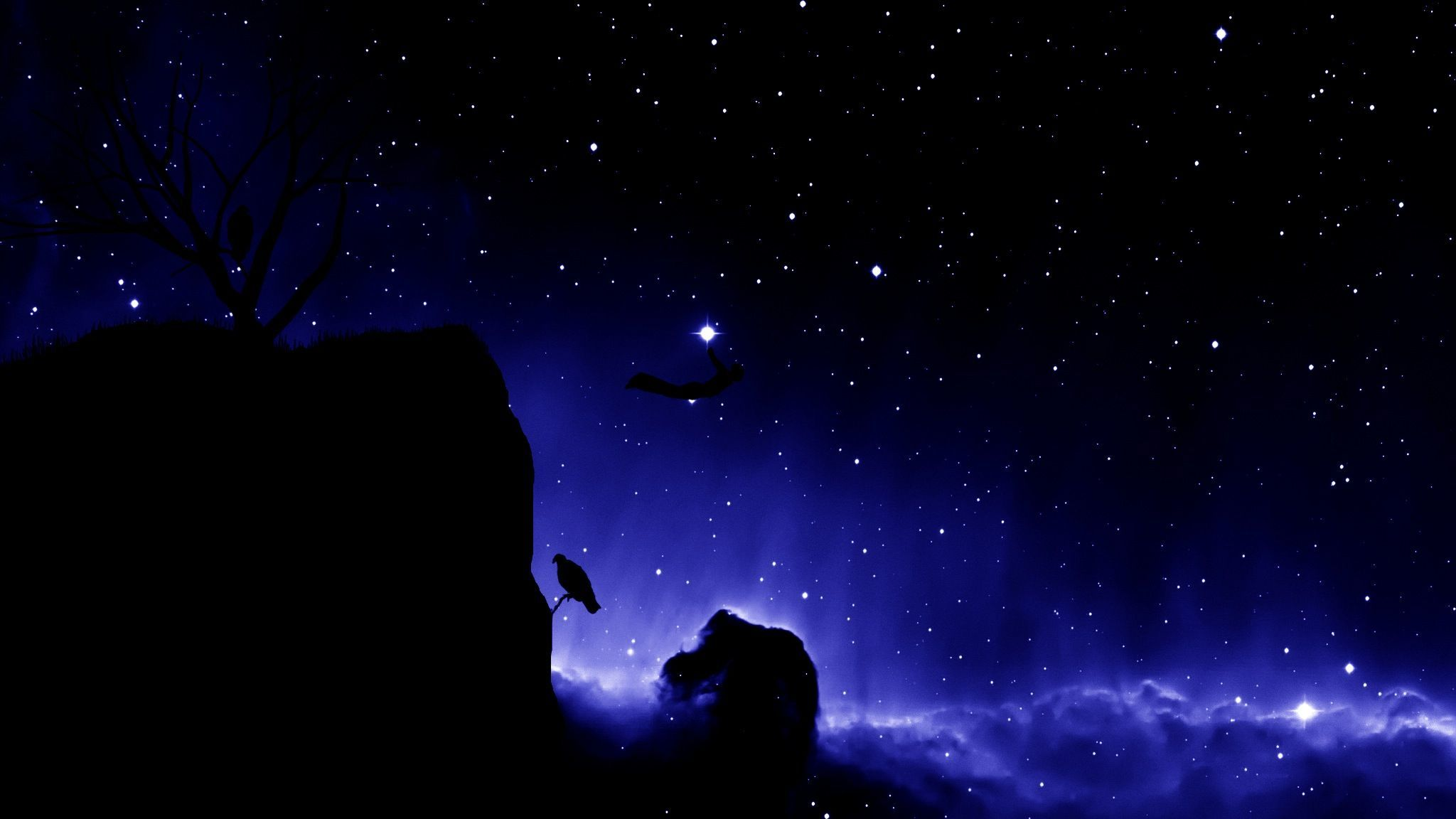 skyscapes night sky HD Wallpaper